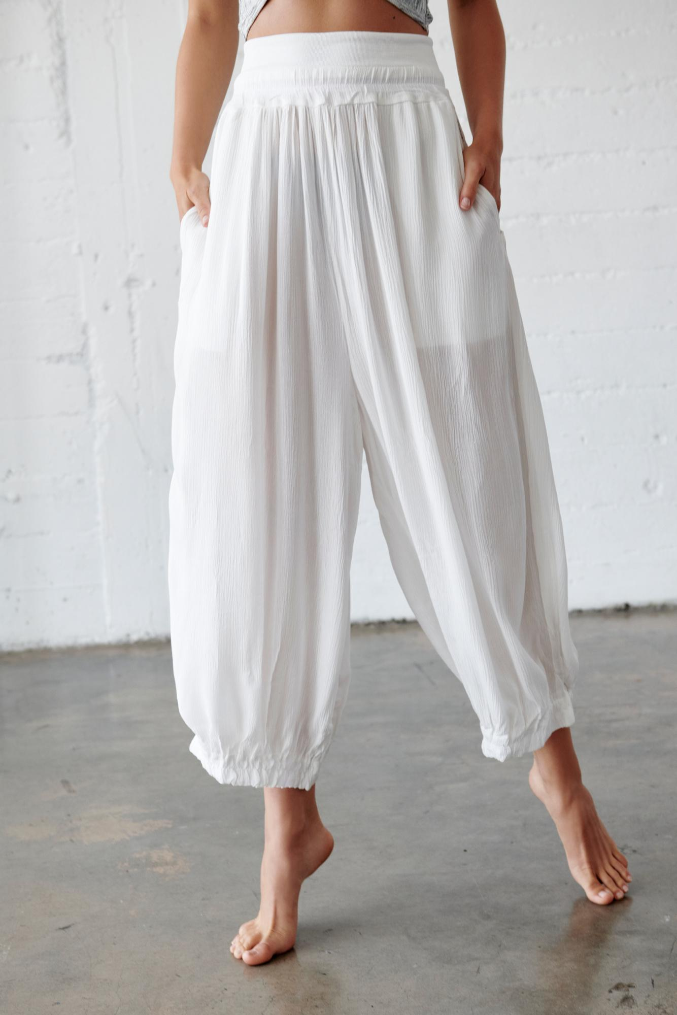 Lyst - Free People Emery Pant By Fp Movement in White dff1744a1