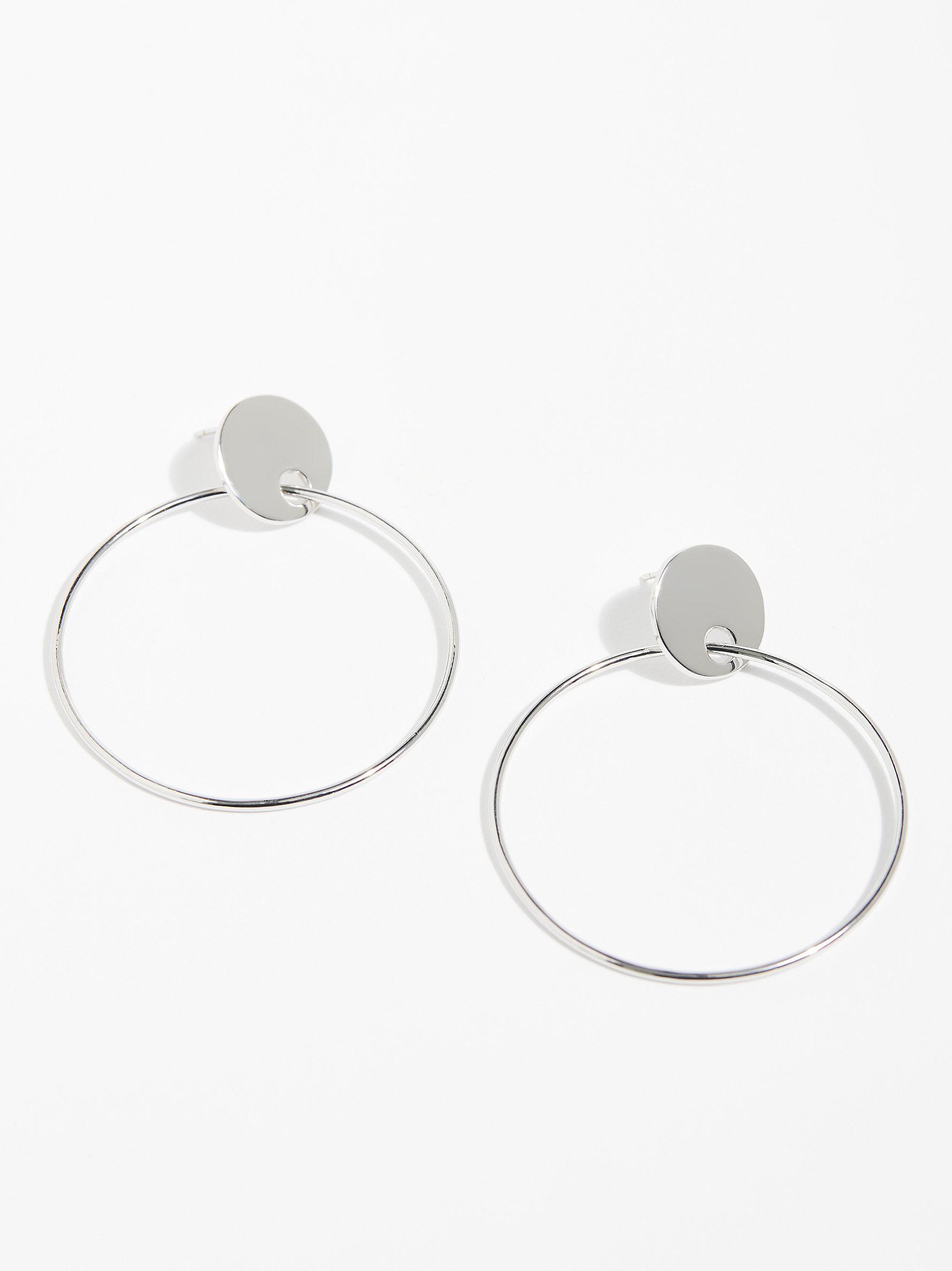 Free People Imogen Hoop Earrings in Silver (Metallic)