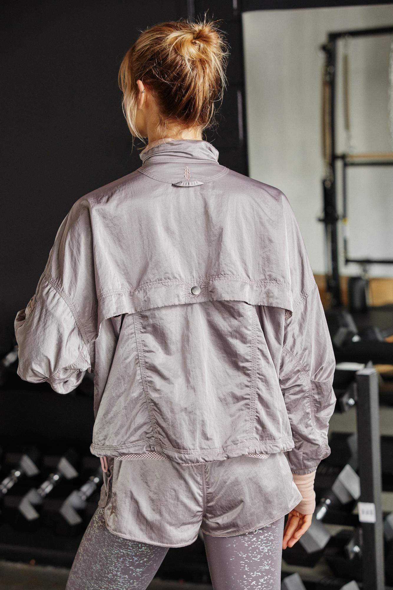 M New Details about  /Free People FP Movement Opal Satin Jacket S
