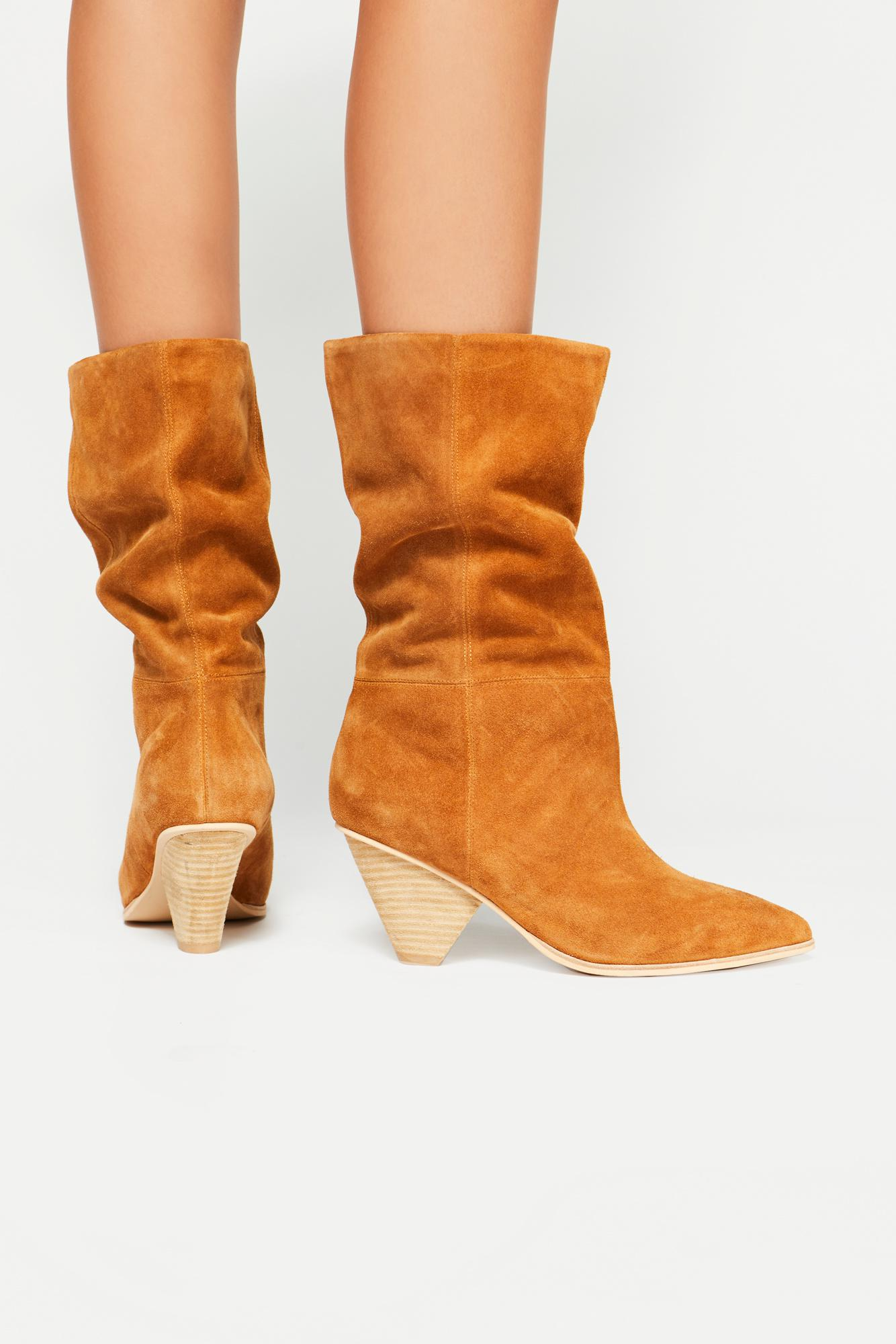Free People Suede Stella Slouch Boot By