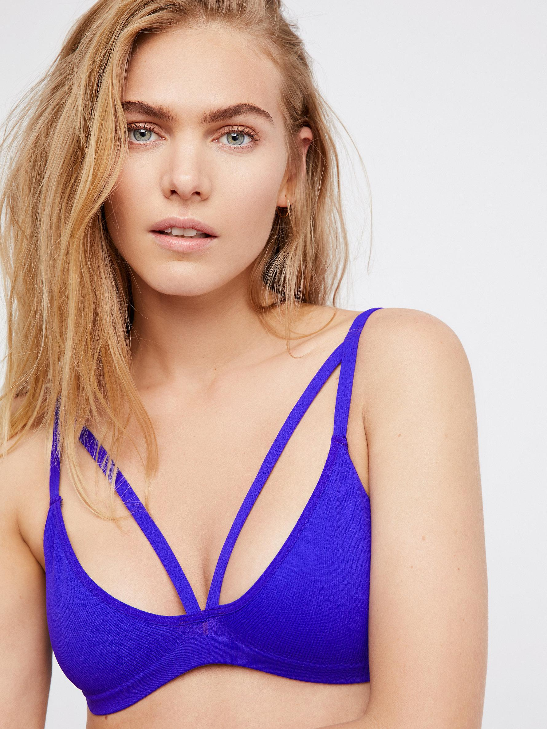 f6b9381e84 Free People Keira Seamless Bralette in Purple - Lyst