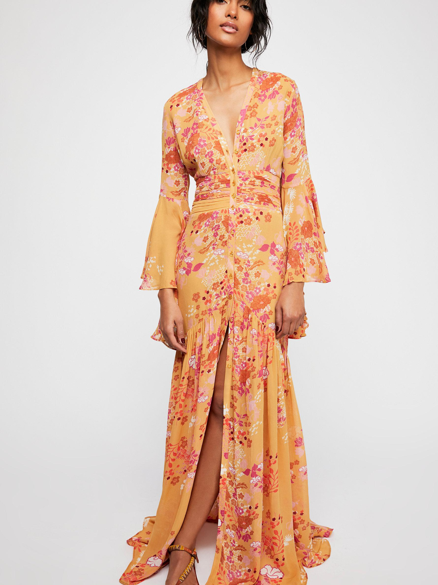 93001e65 Free People Semi Couture Gown in Orange - Lyst