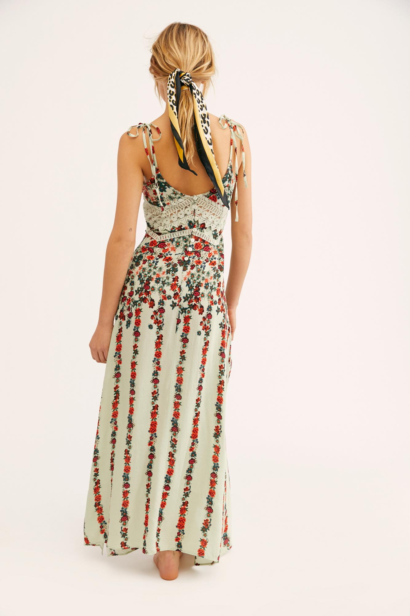 e7b52279911d0 Free People Claire Printed Maxi Slip By Intimately in Blue - Lyst
