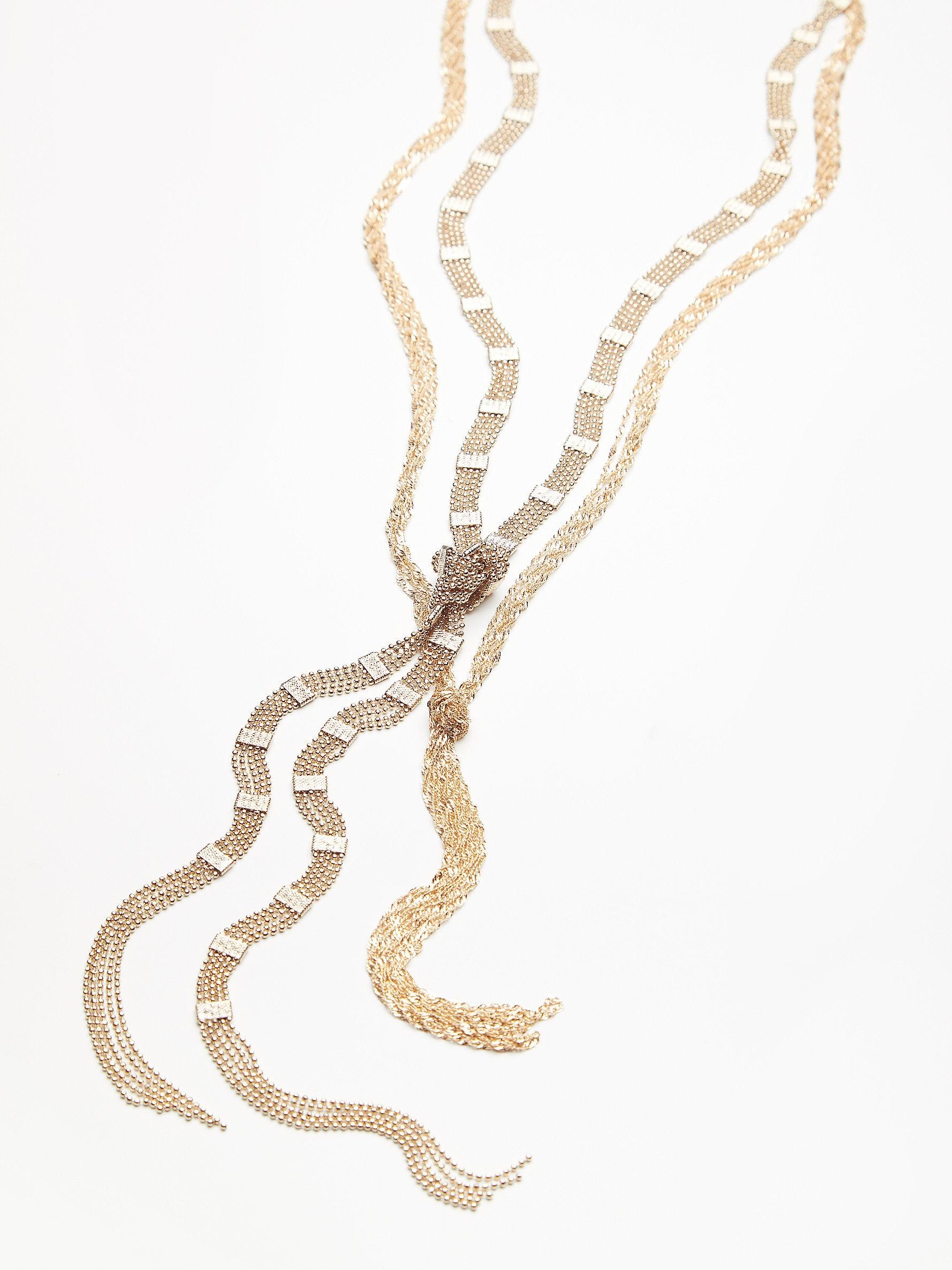 Free People Chain Wrap Scarf Necklace in Gold (Metallic)