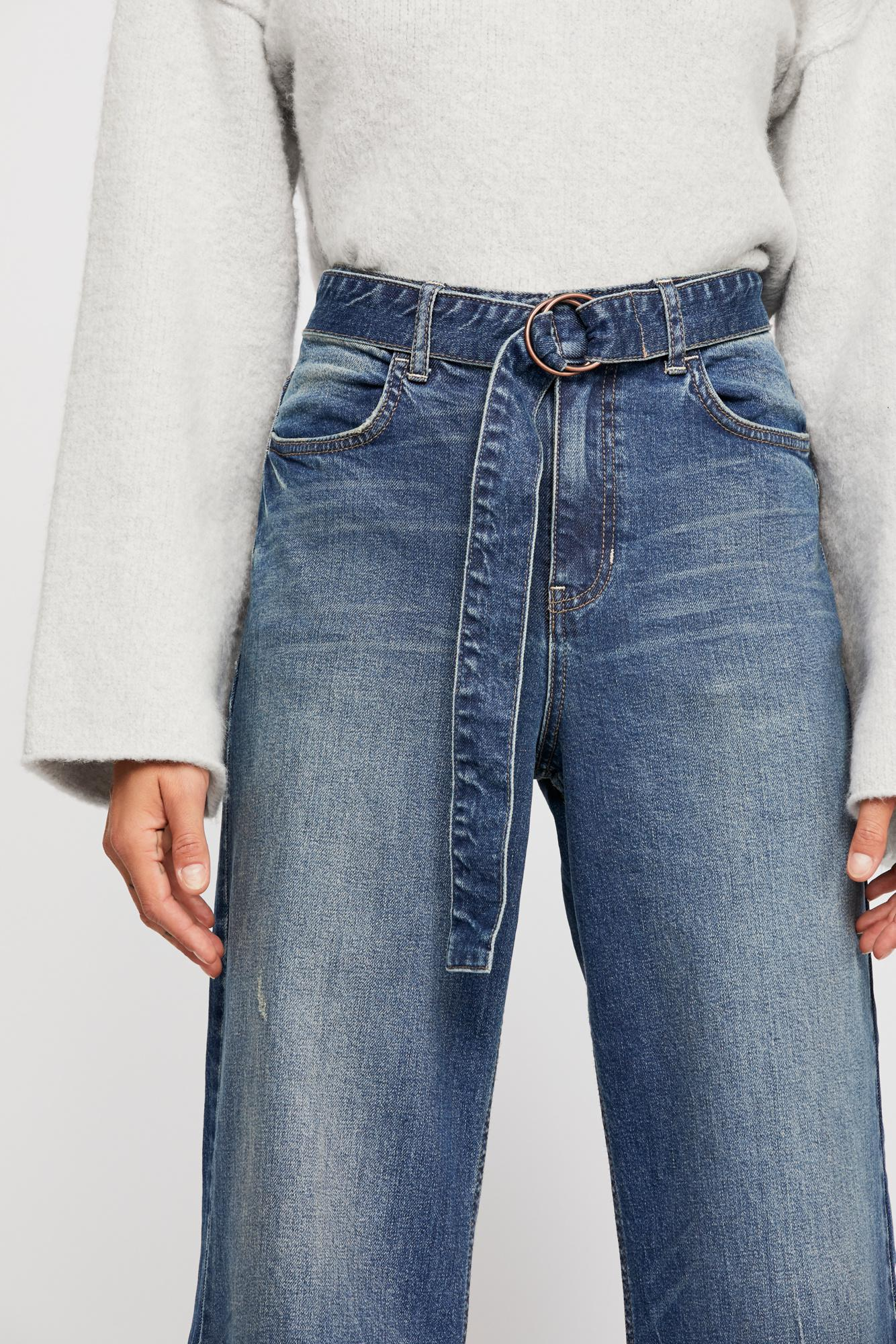 9e2aaf242 Free People Blue Ringer Denim Wide-leg Jeans By We The Free