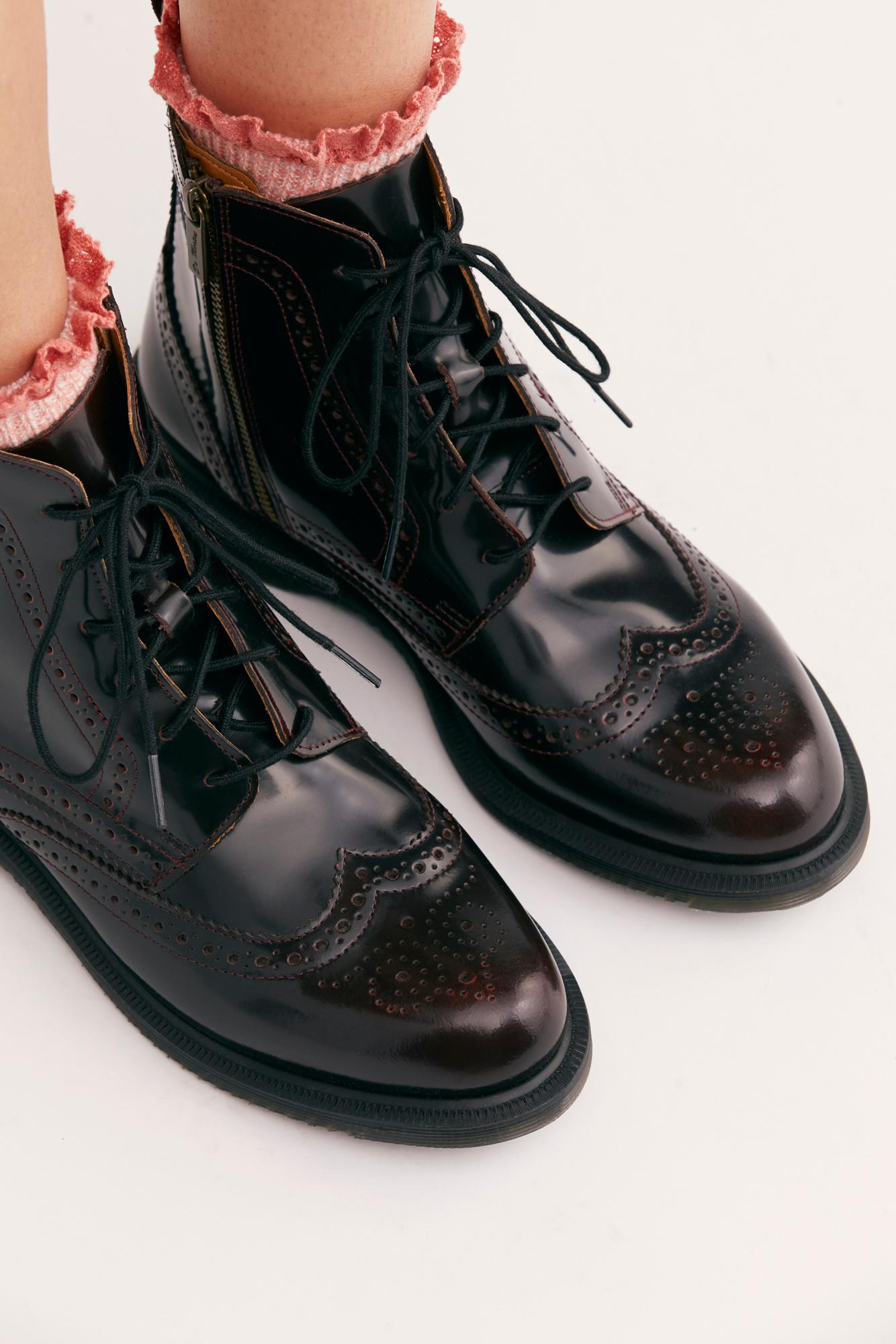 578b085008a Free People Red Dr. Martens Delphine 8 Eye Brogue Boot