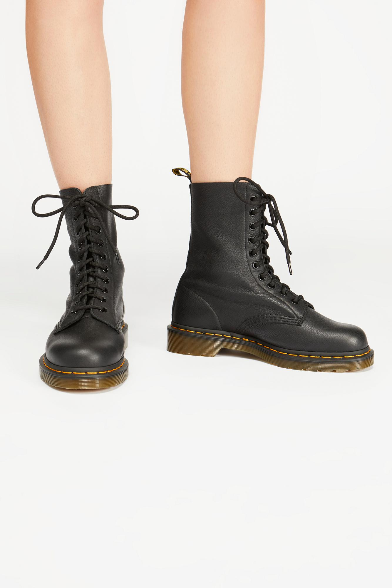 a05f0ae2e35 Free People Dr. Martens 1490 10 Eye Lace-up Boot in Black - Lyst