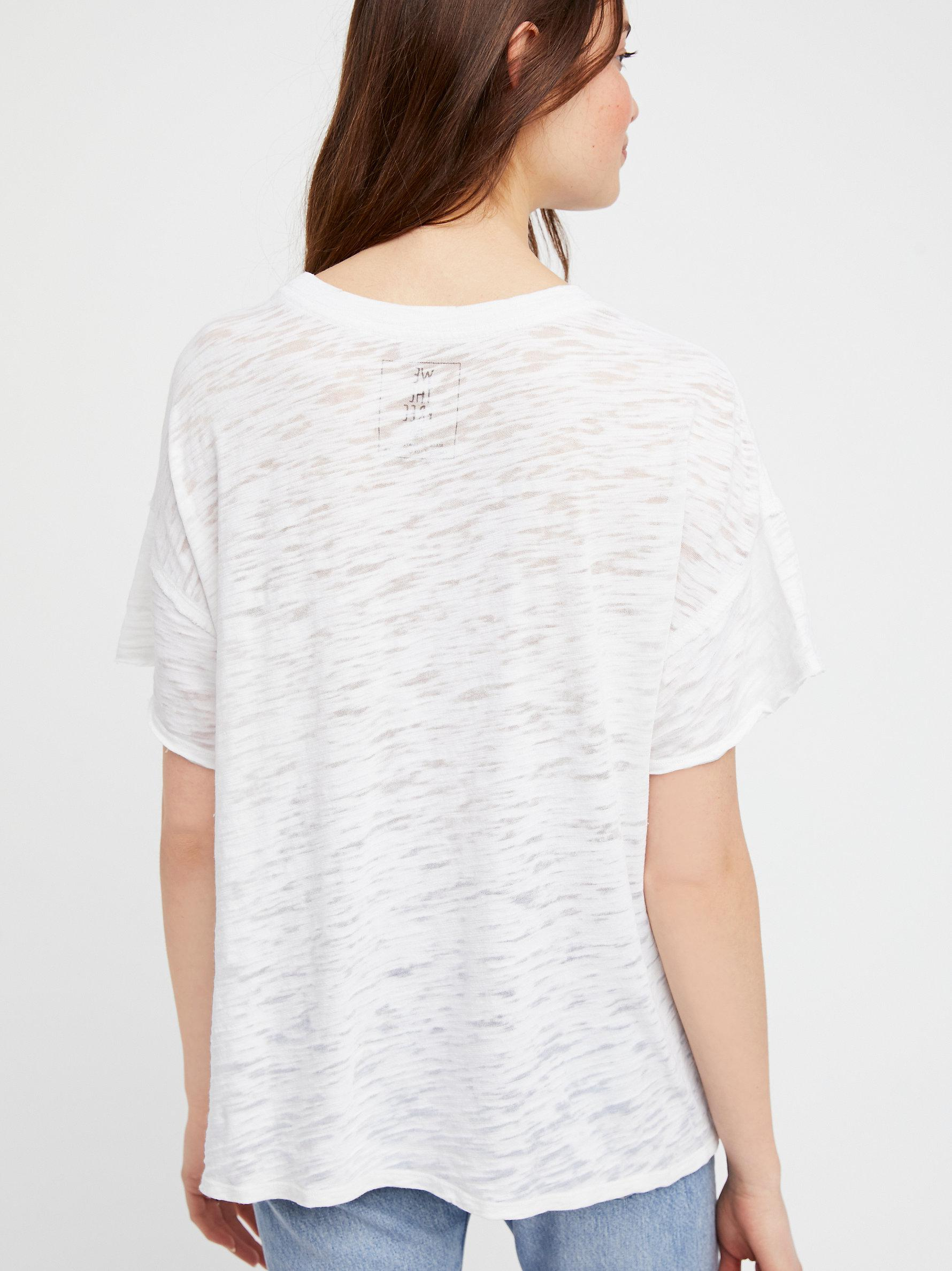 f98a1992ee32 Lyst - Free People We The Free Graphic Jordan Tee in White
