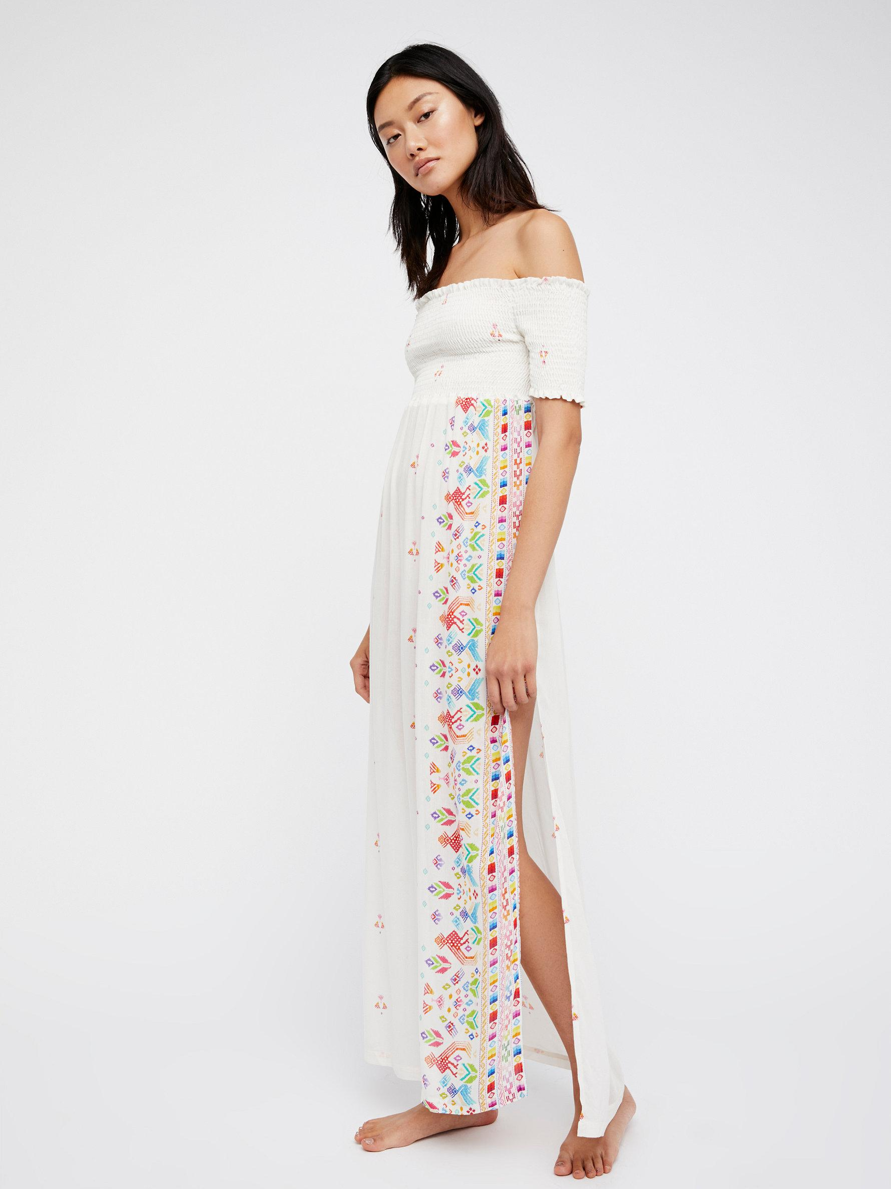 Free People Desert Daydream Maxi Dress In White Lyst