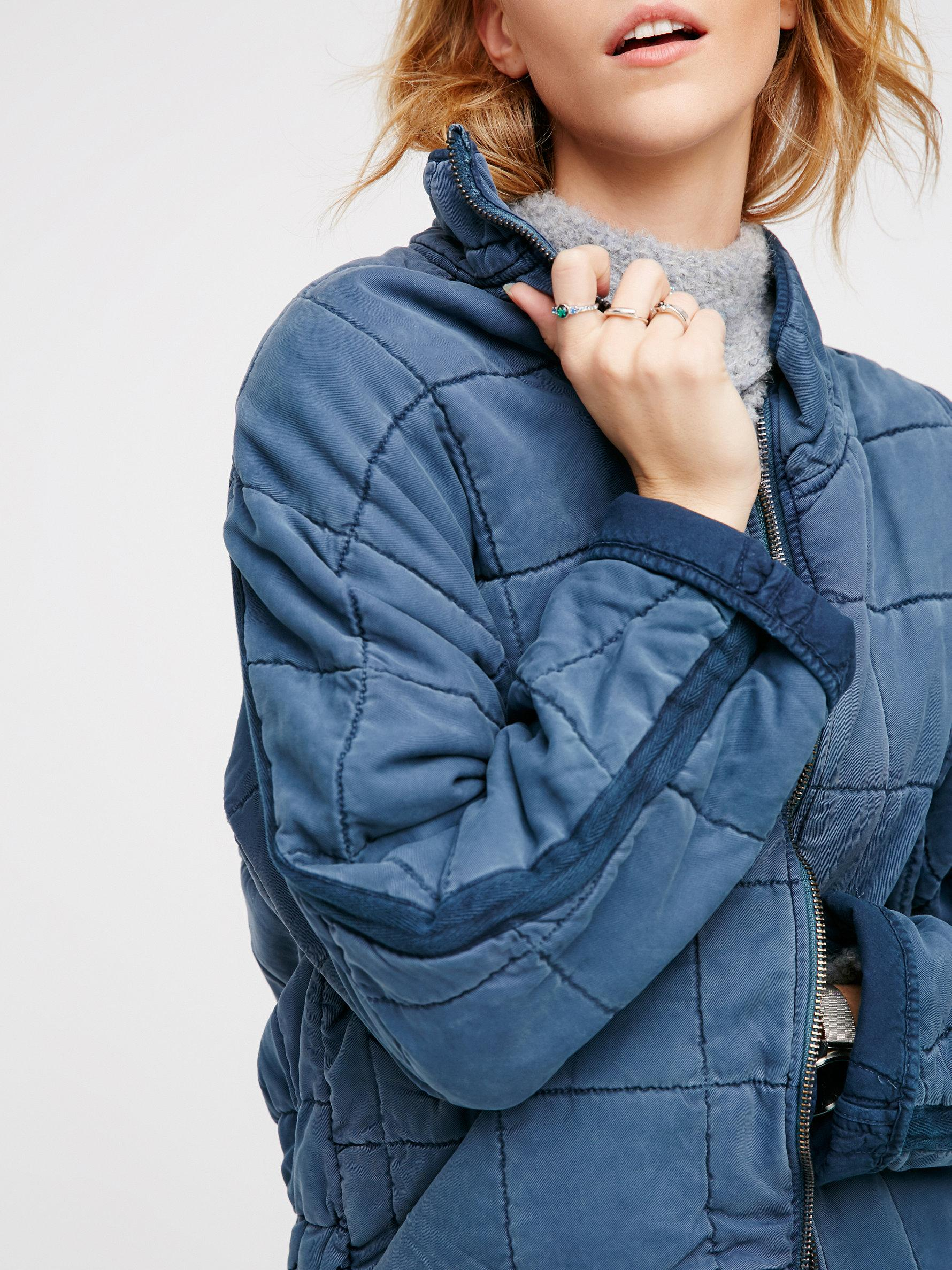 Lyst Free People Dolman Quilted Jacket In Blue