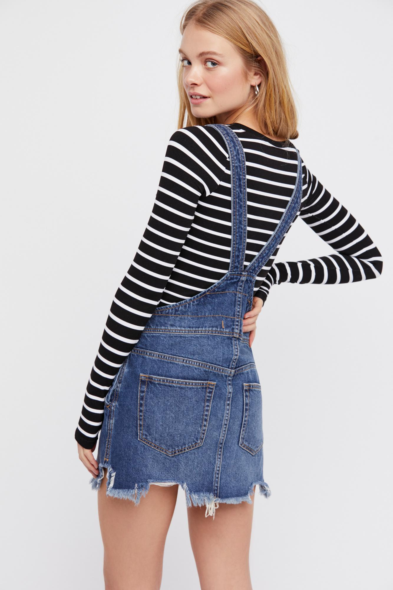 e771d3c1ff Lyst - Free People Torn Up Jumper By We The Free in Blue
