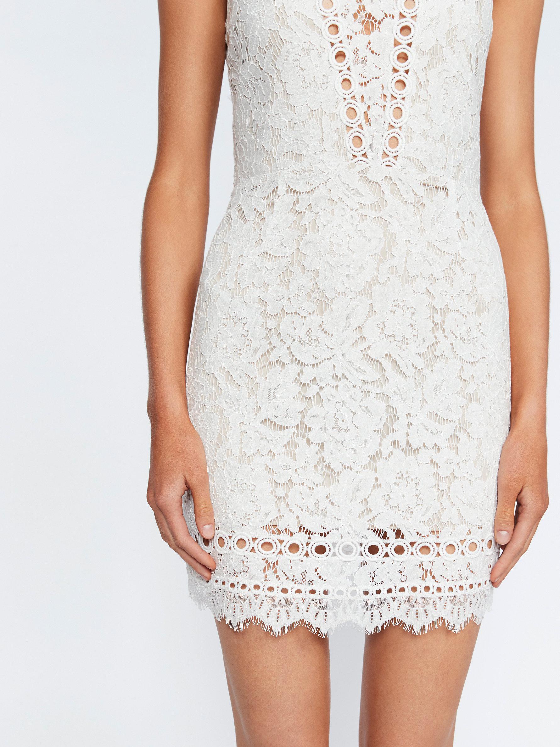 6fb334b7e1 Free People Cherie Bodycon Mini Dress in White - Lyst