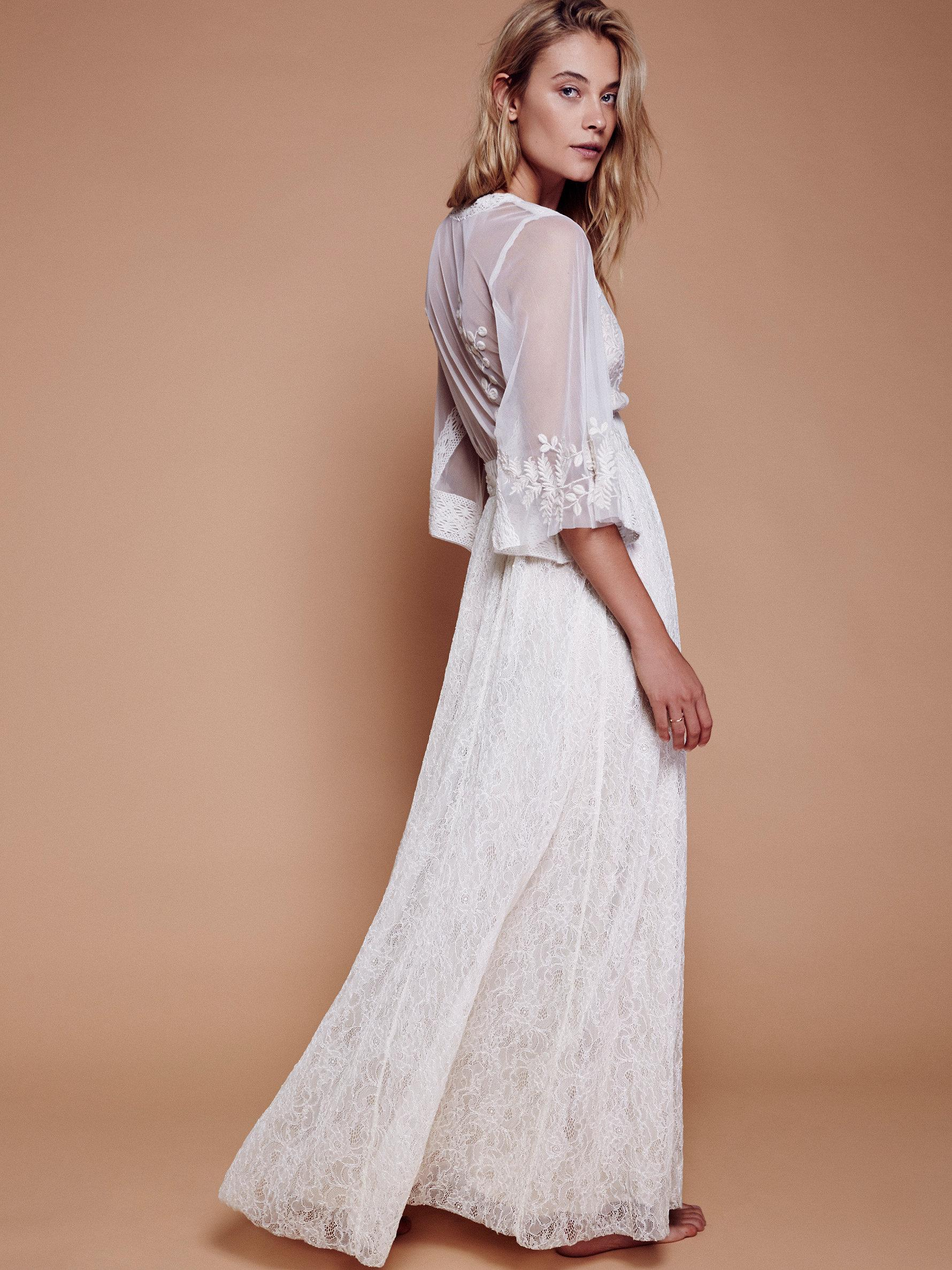 02e88f63bae Free People Eclair Lace Maxi Dress in White - Lyst