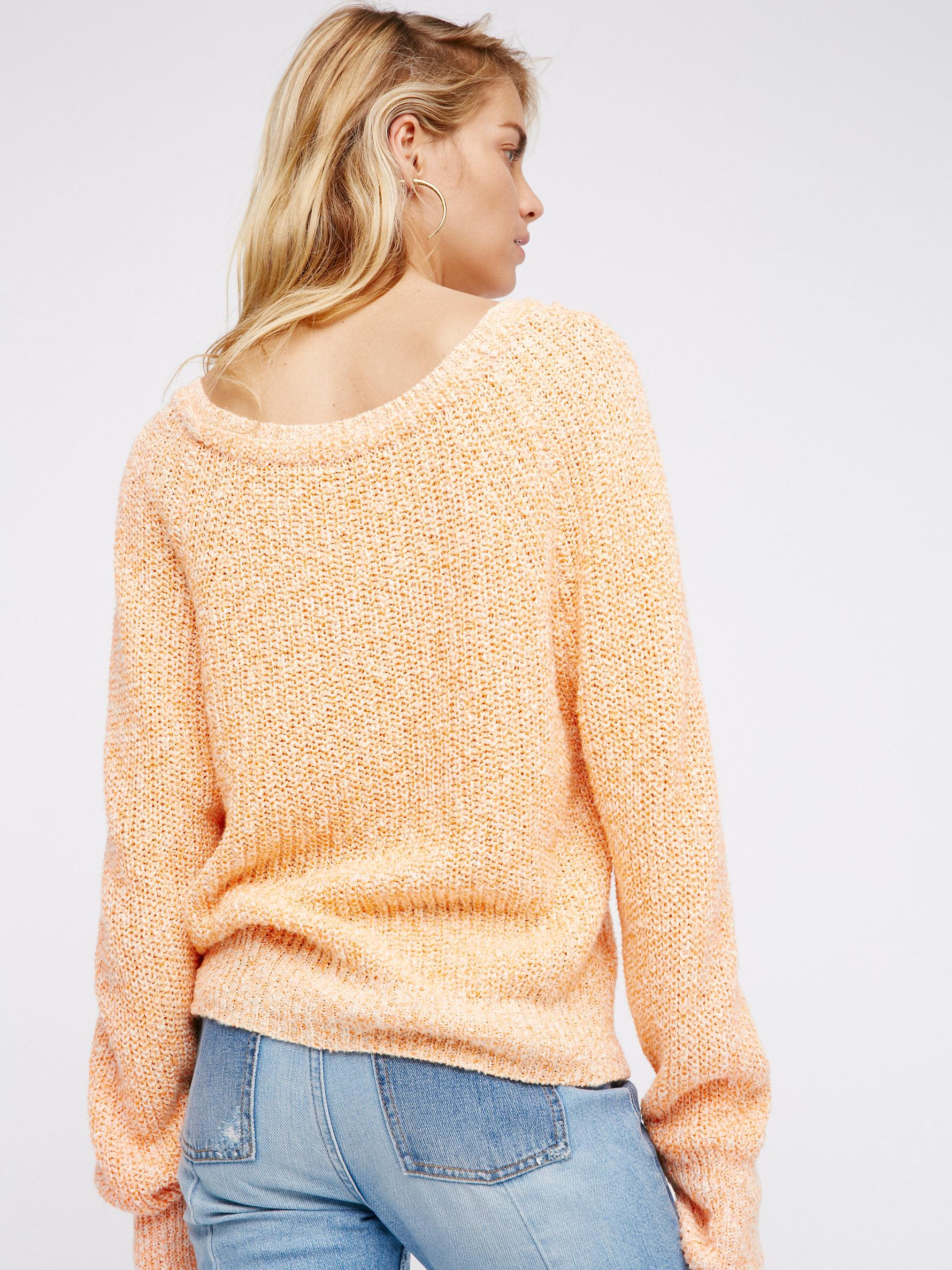 Free People Cotton Electric City Pullover