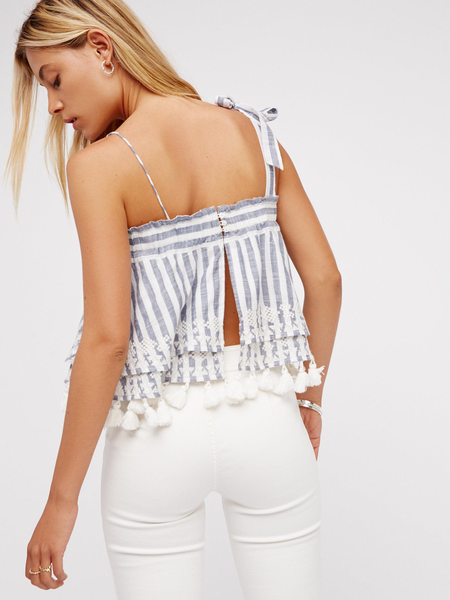 027b7f8f05d Free People Embroidered Stripe Tube - Lyst