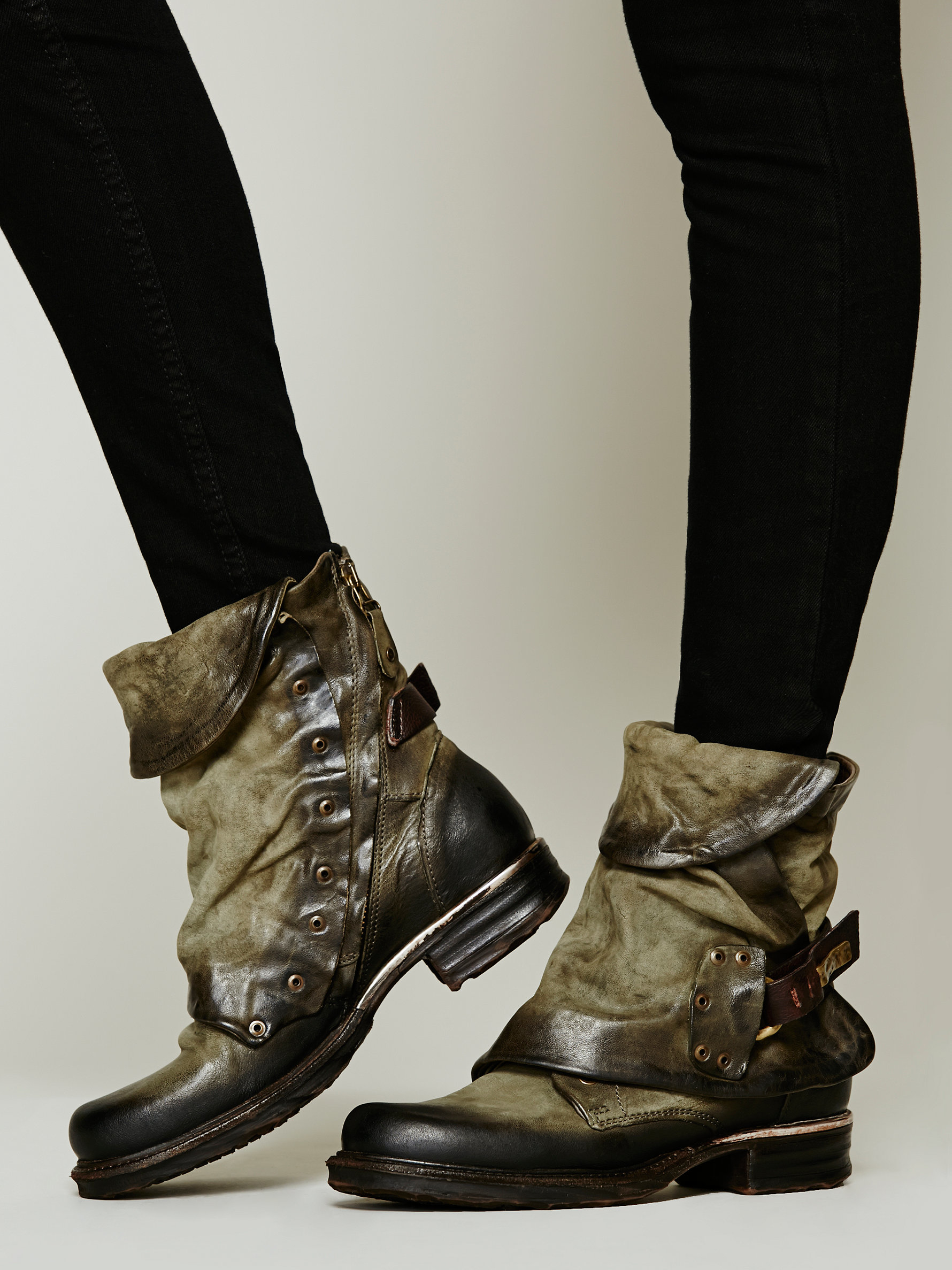 Lyst Free People Emerson Ankle Boot In Green