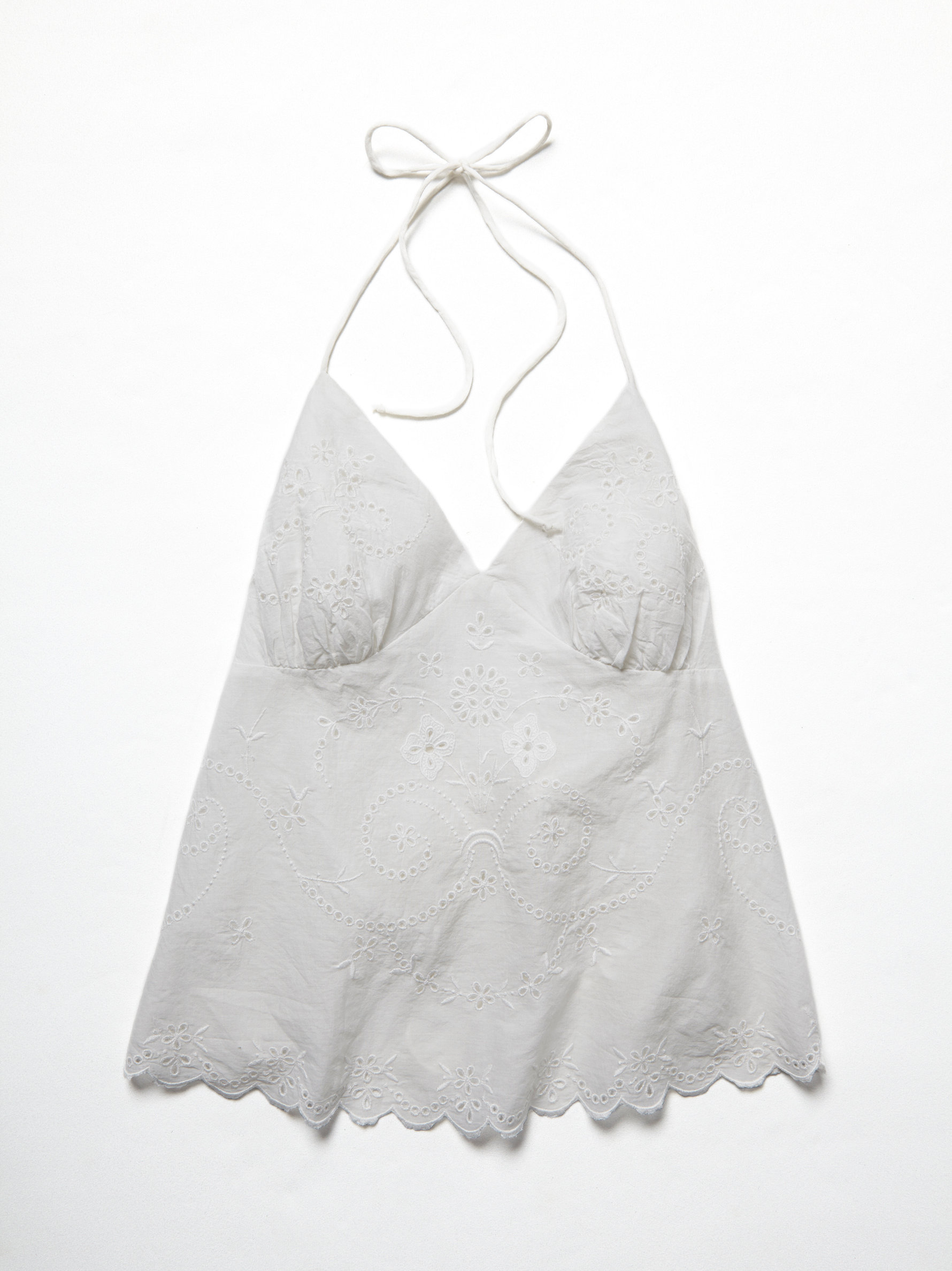 White eyelet apron - Gallery