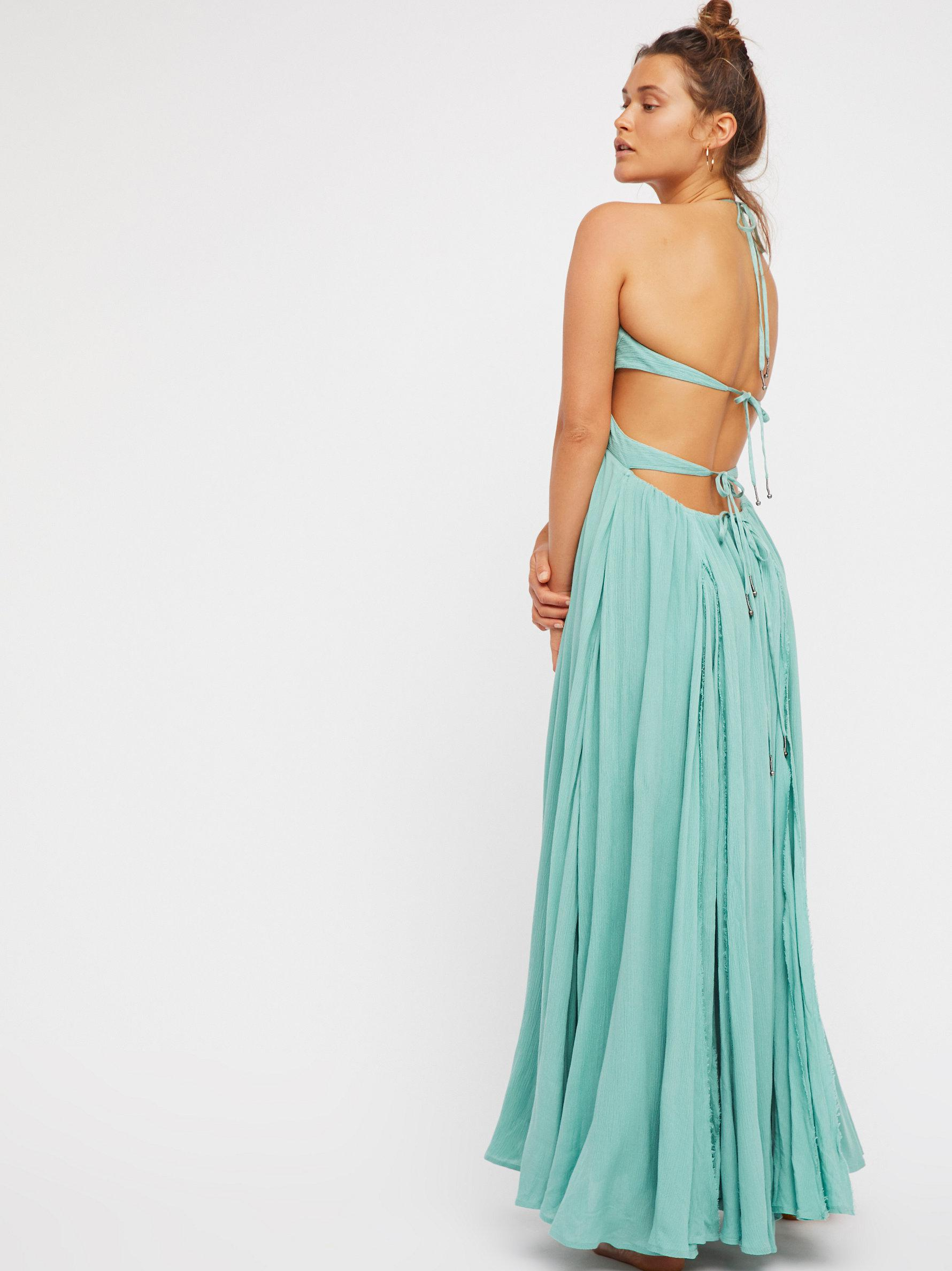 0057ef65e1f Free People Lille Maxi Dress in Blue - Lyst