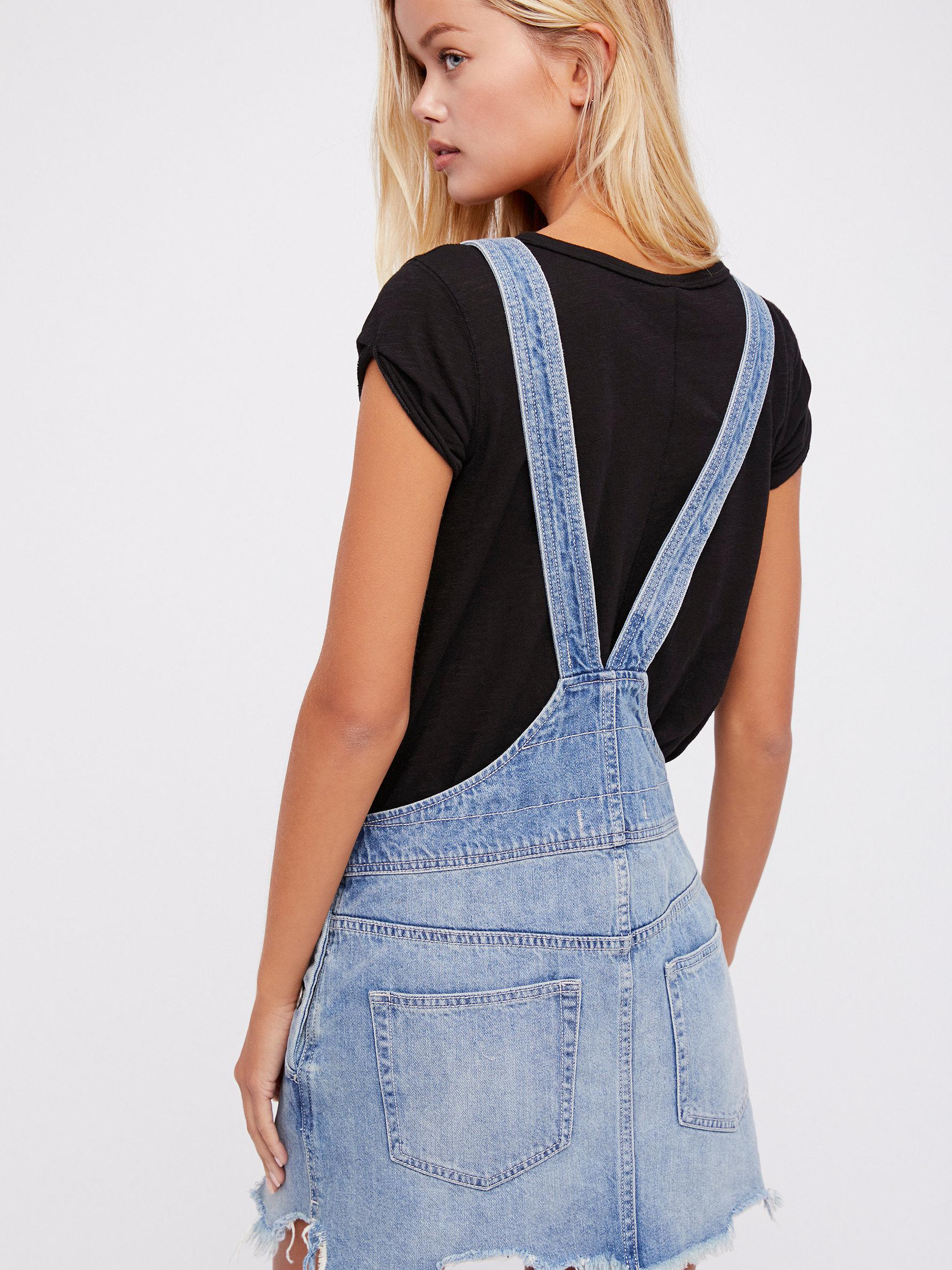 44bab01c5fa5 Lyst - Free People Torn Up Jumper in Blue