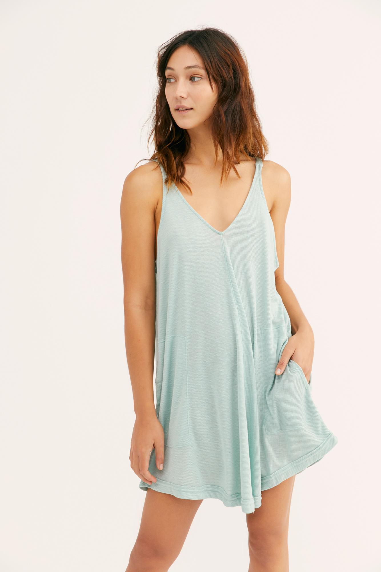f128ad3795 Free People - Blue Clovers Mini Dress By Fp Beach - Lyst. View fullscreen