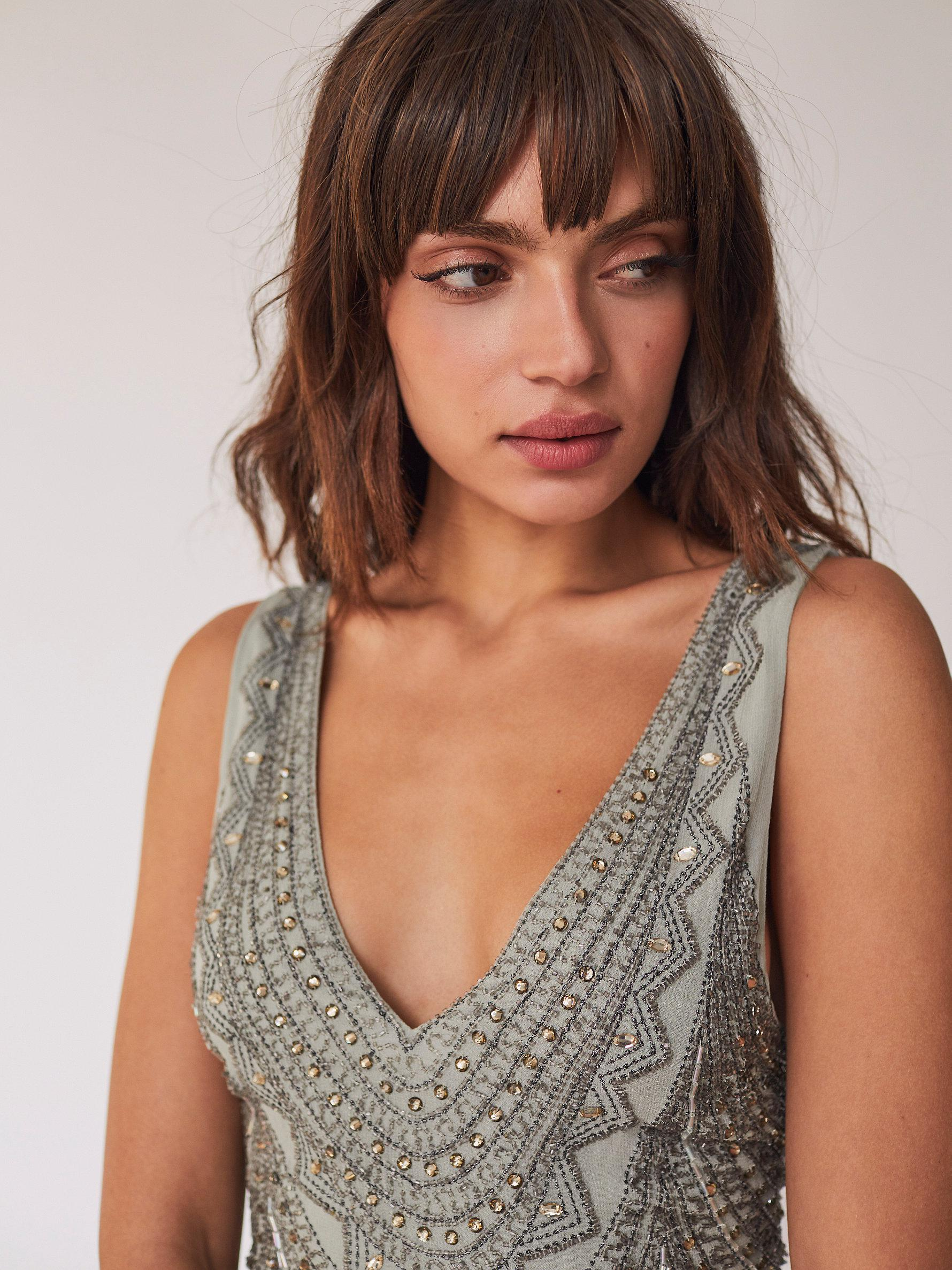 8700e7d51eeaa Free People Daphne Maxi Dress in Gray - Lyst