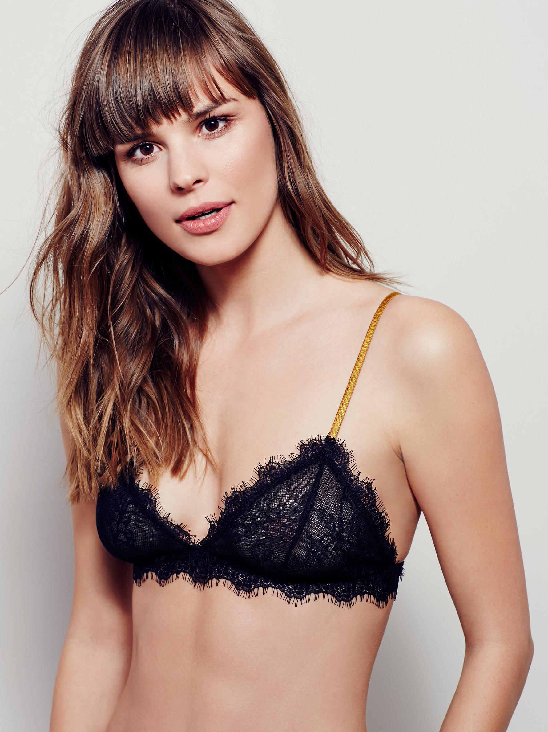 04bbb1c1779 Lyst - Free People Bedroom Eyes Bralette Bedroom Eyes Tie Bikini in ...