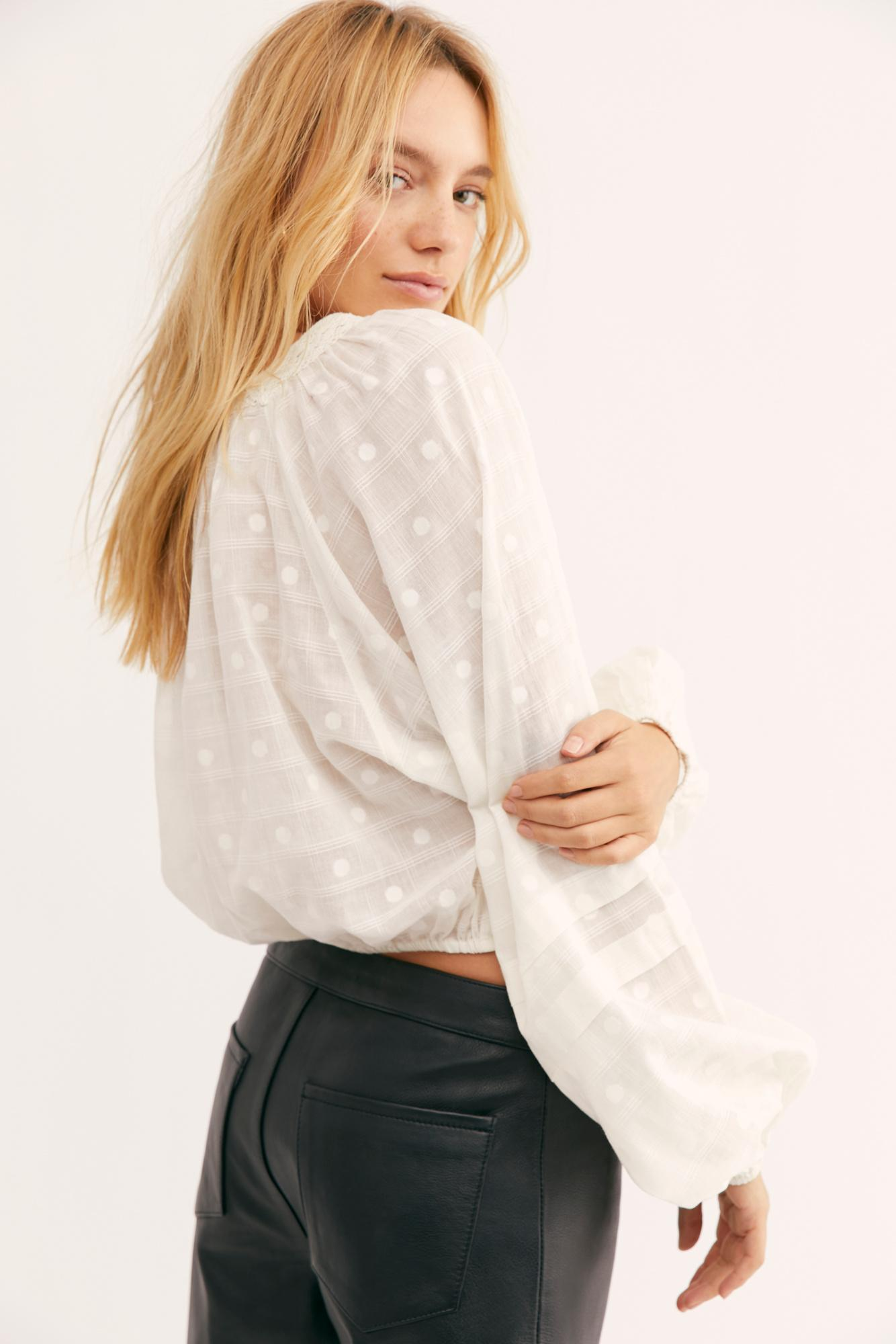 free people one fine day blouse
