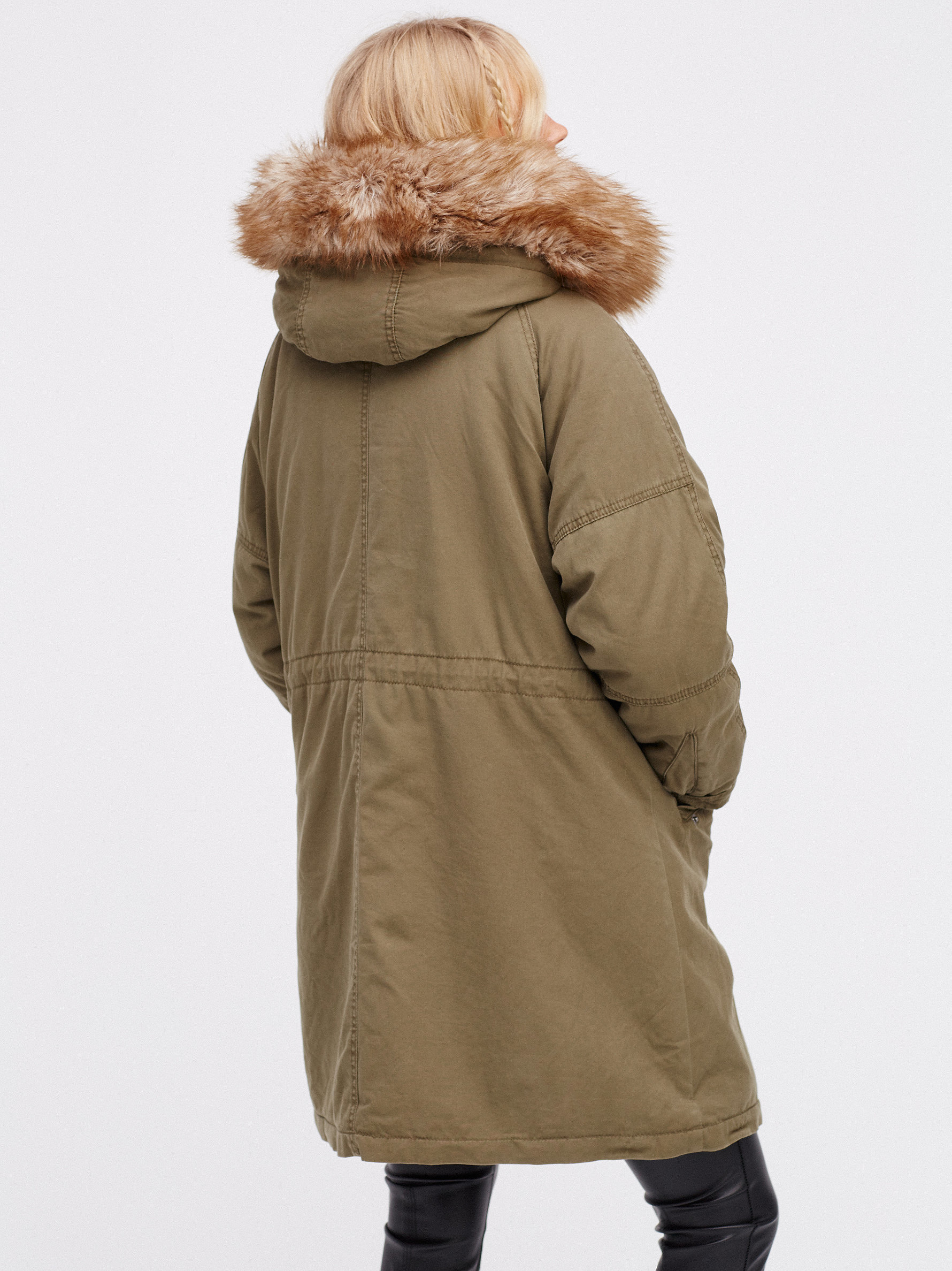 Fur Lined Military Parka