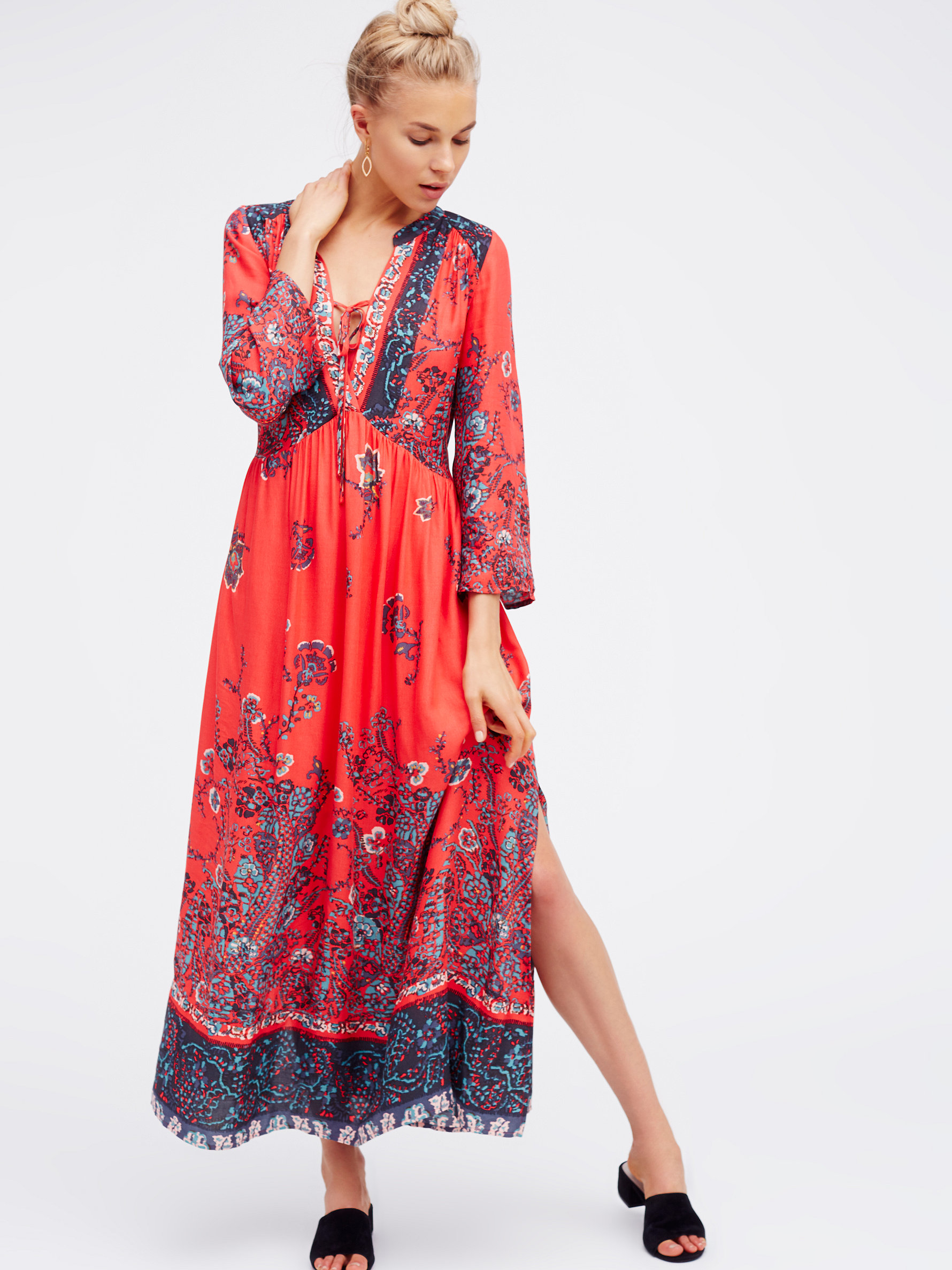 free if you only knew maxi dress in black lyst