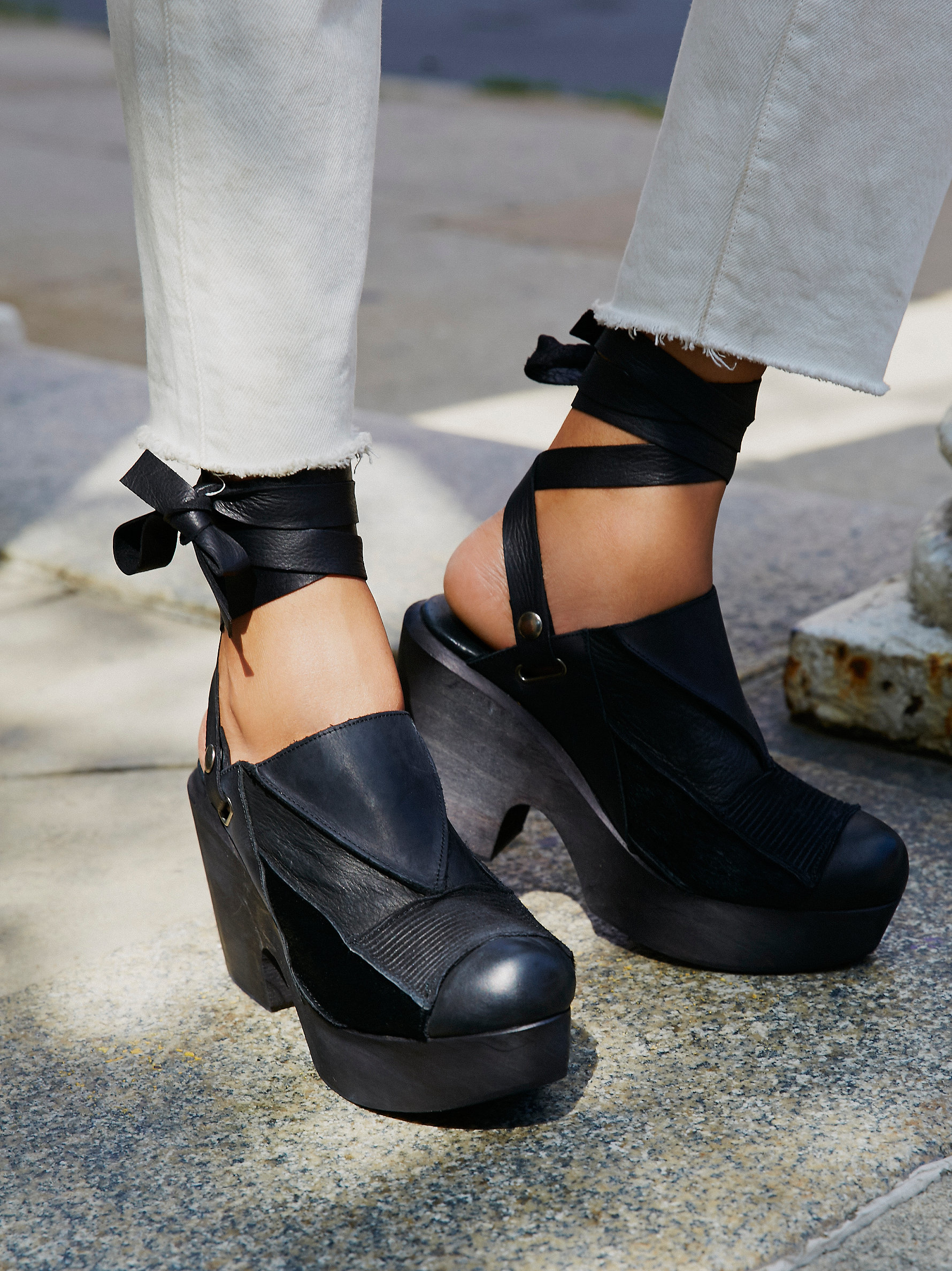 Lyst Free People Into The Patchwork Clog In Black
