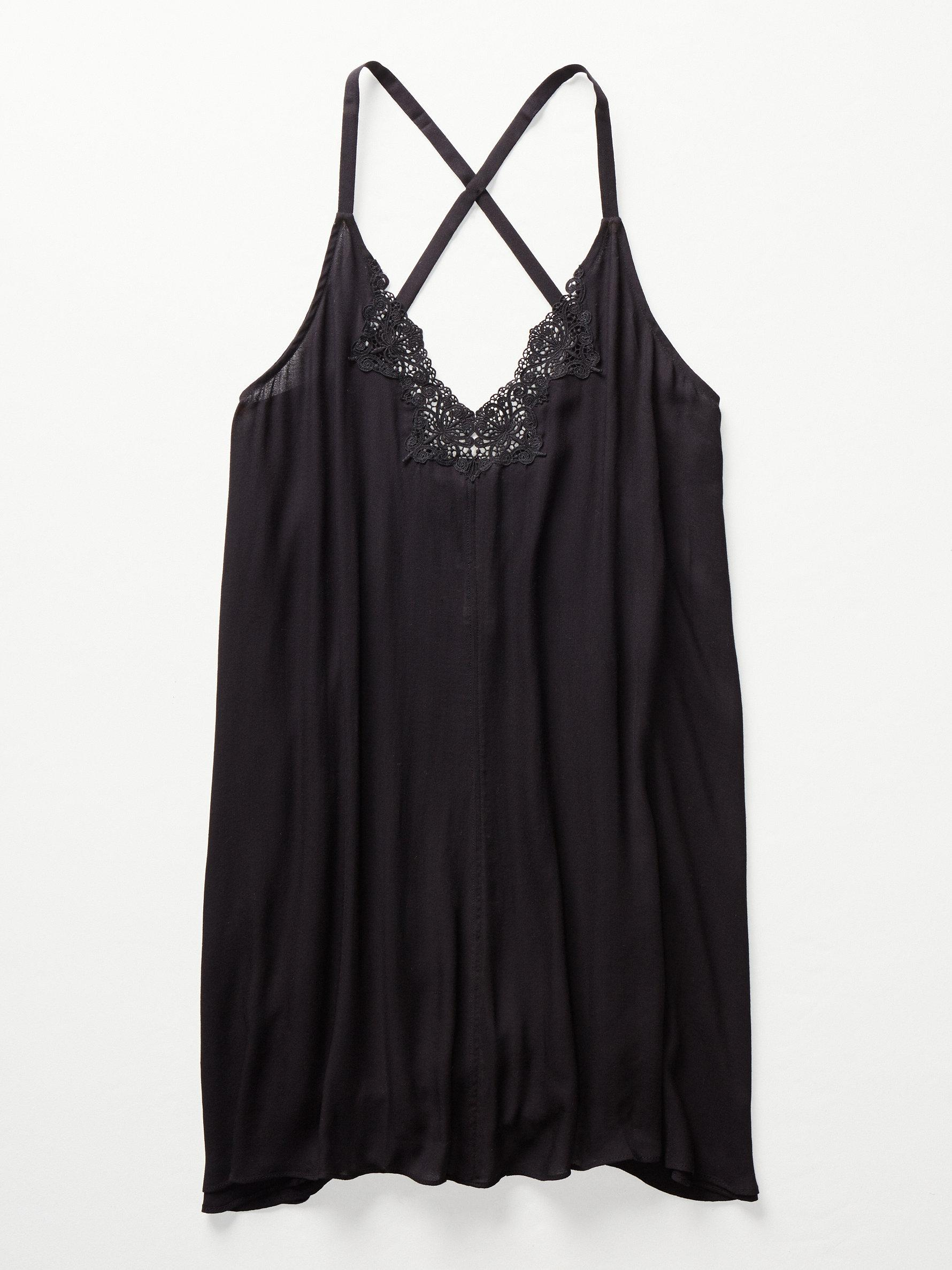d7ffde14f658 Free People Kendall Trapeze Slip in Black - Lyst