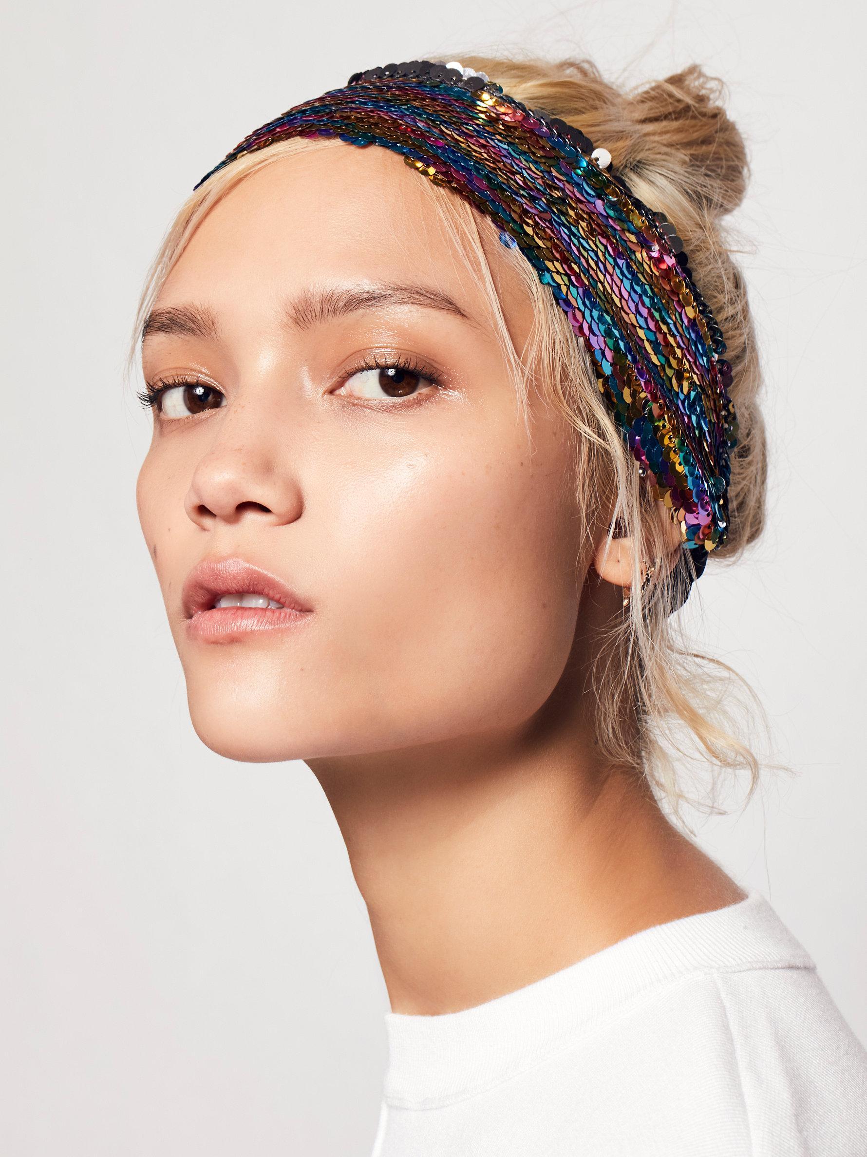Lyst - Free People Mermaid Sequin Headband a05e12e6ba6