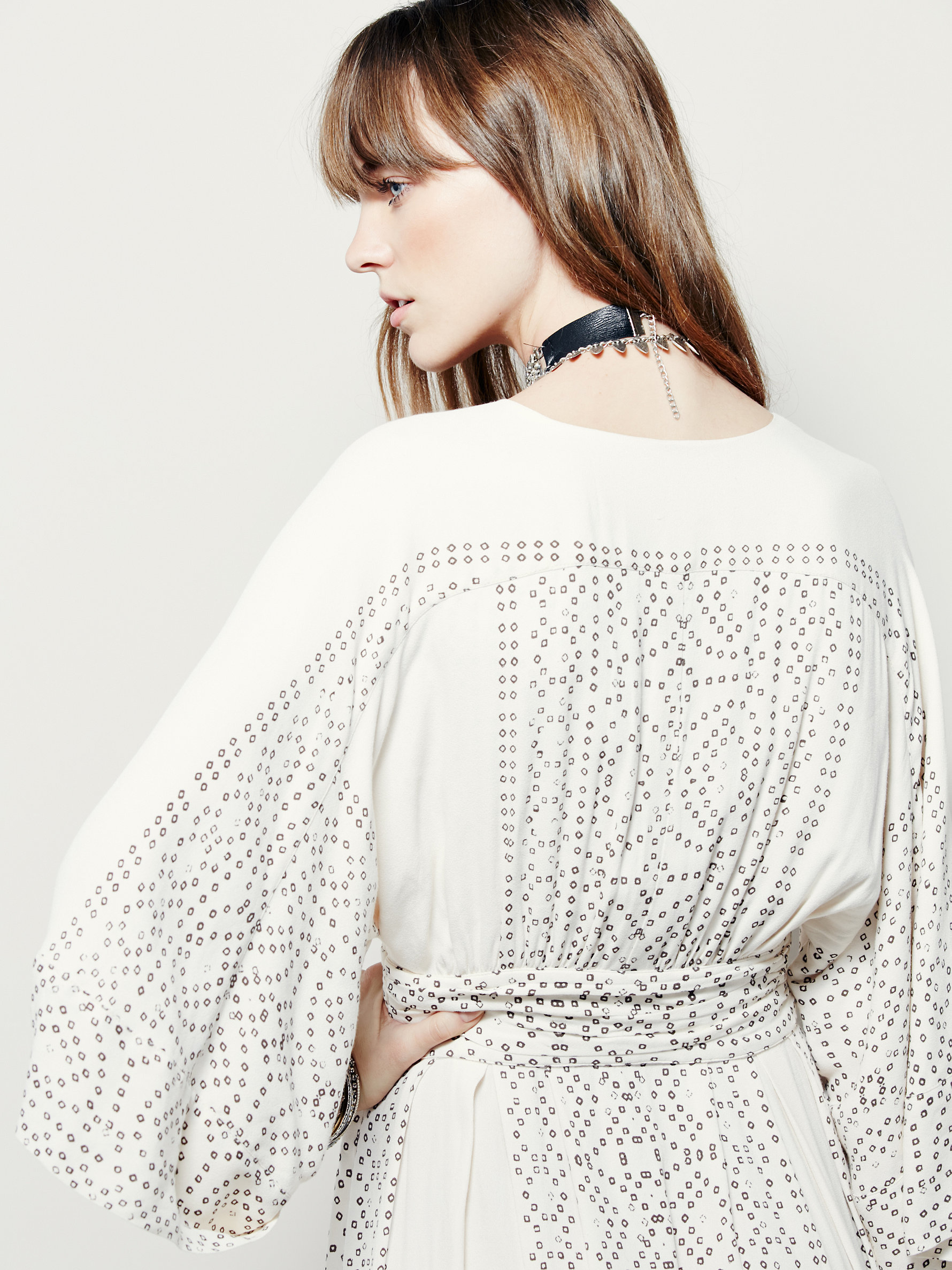 Free people Modern Kimono Dress in White | Lyst