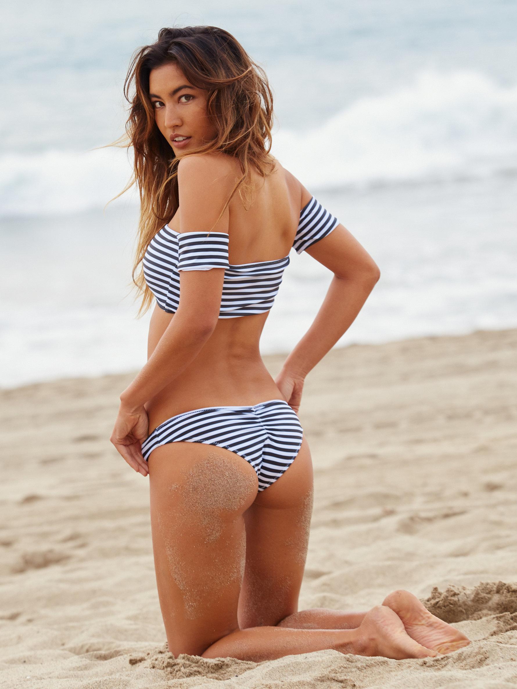 Lyst - Free People Nikki Stripe Bikini Bottom Rose Stripe -7316
