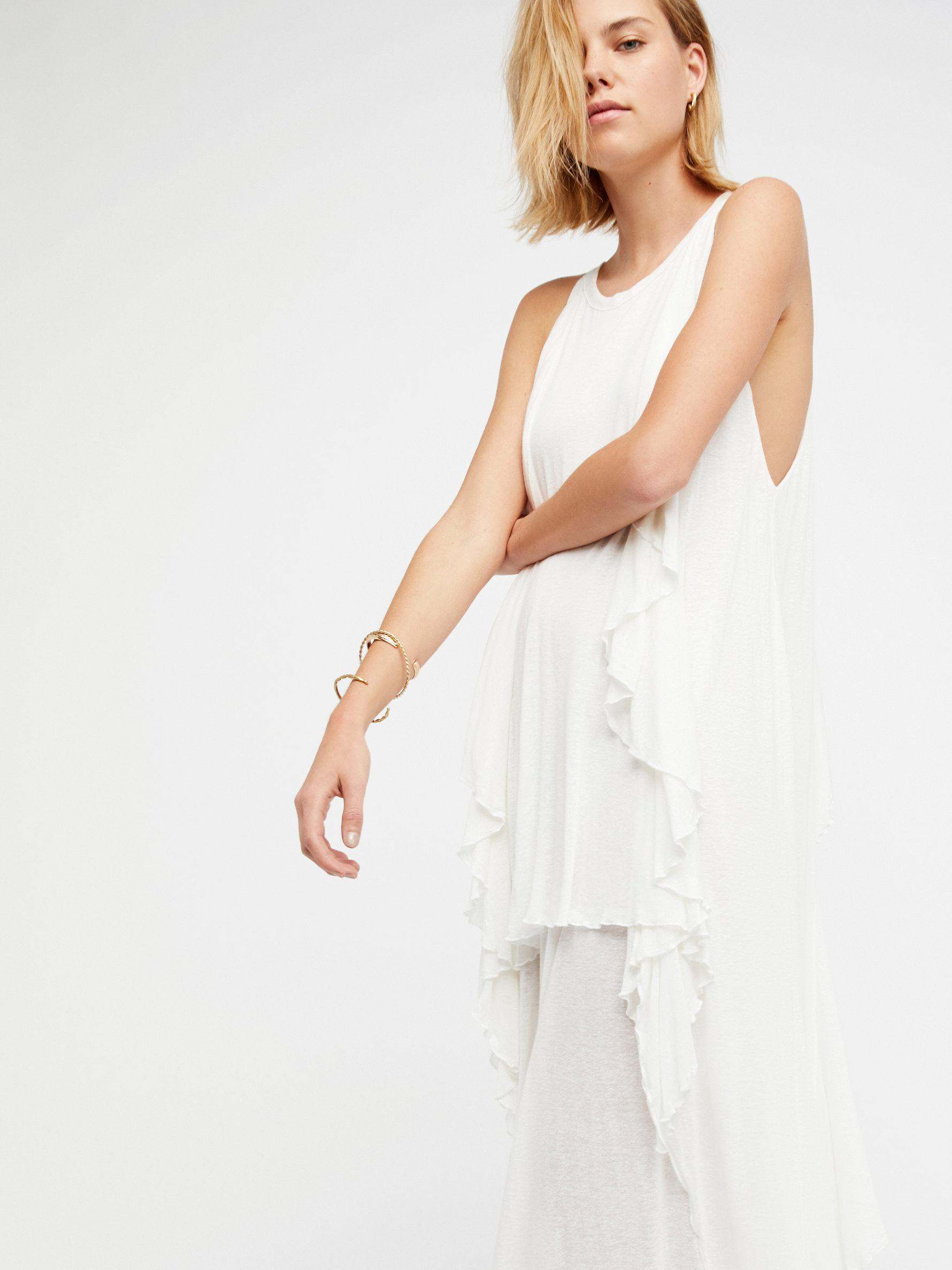 Free People Linen Oh My Goddess Maxi Dress In White Lyst