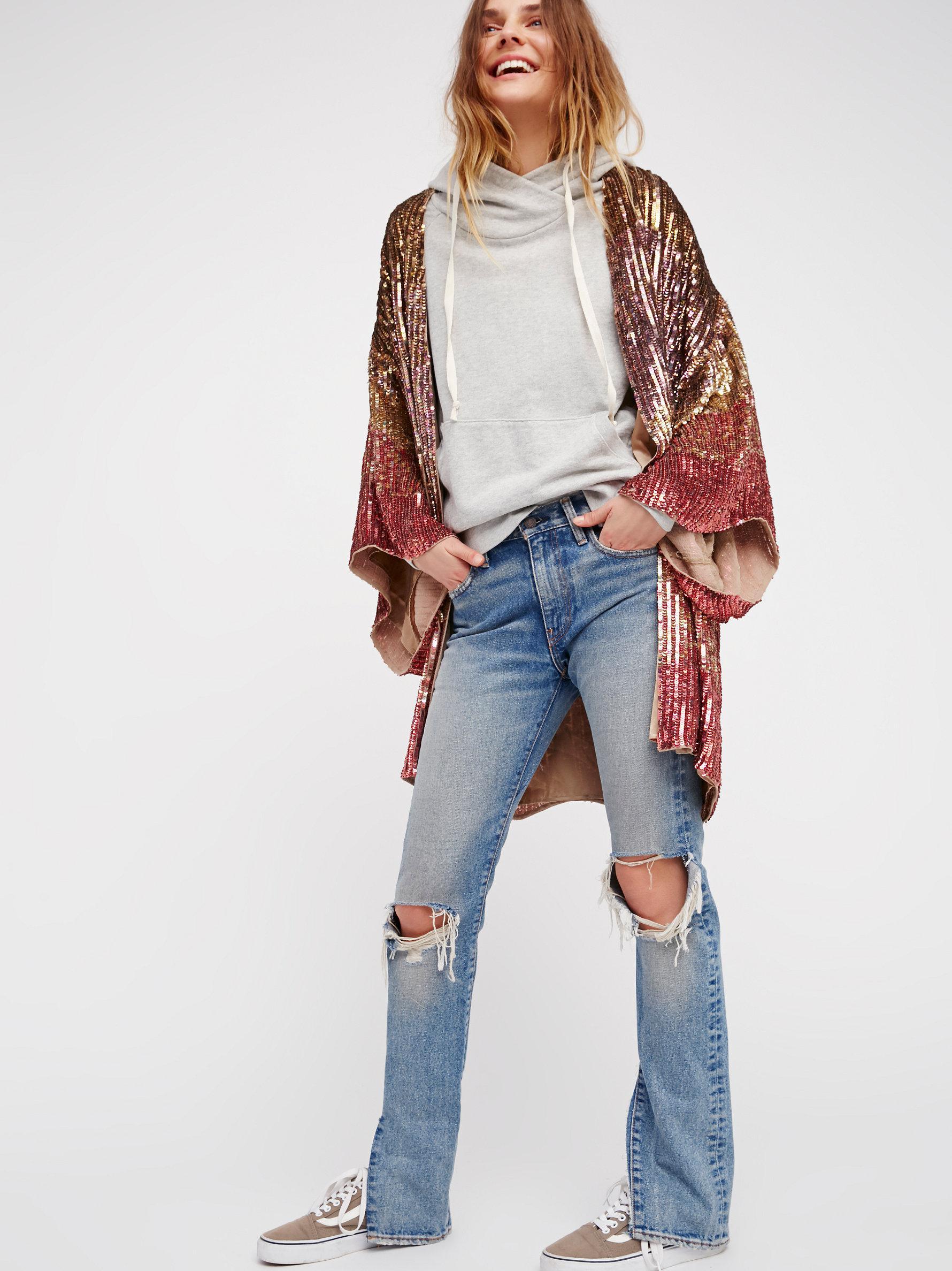 free people ombre sequin kimono lyst