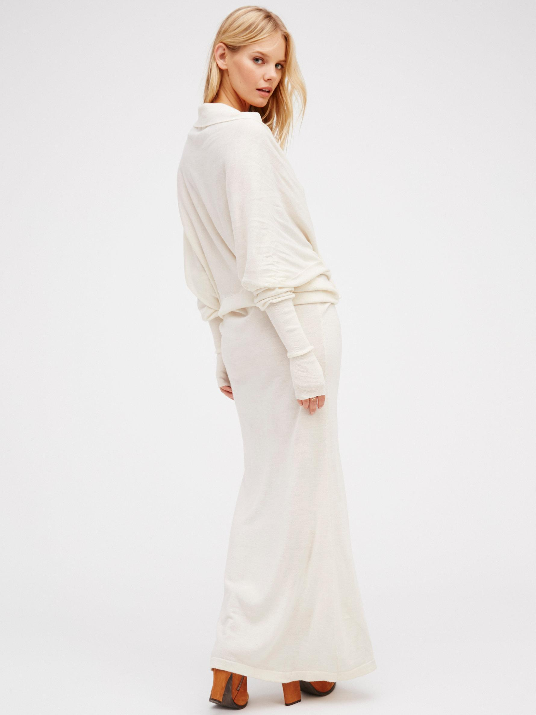 af32ab66b9 Free People Reversible Long Sweater Dress - Lyst