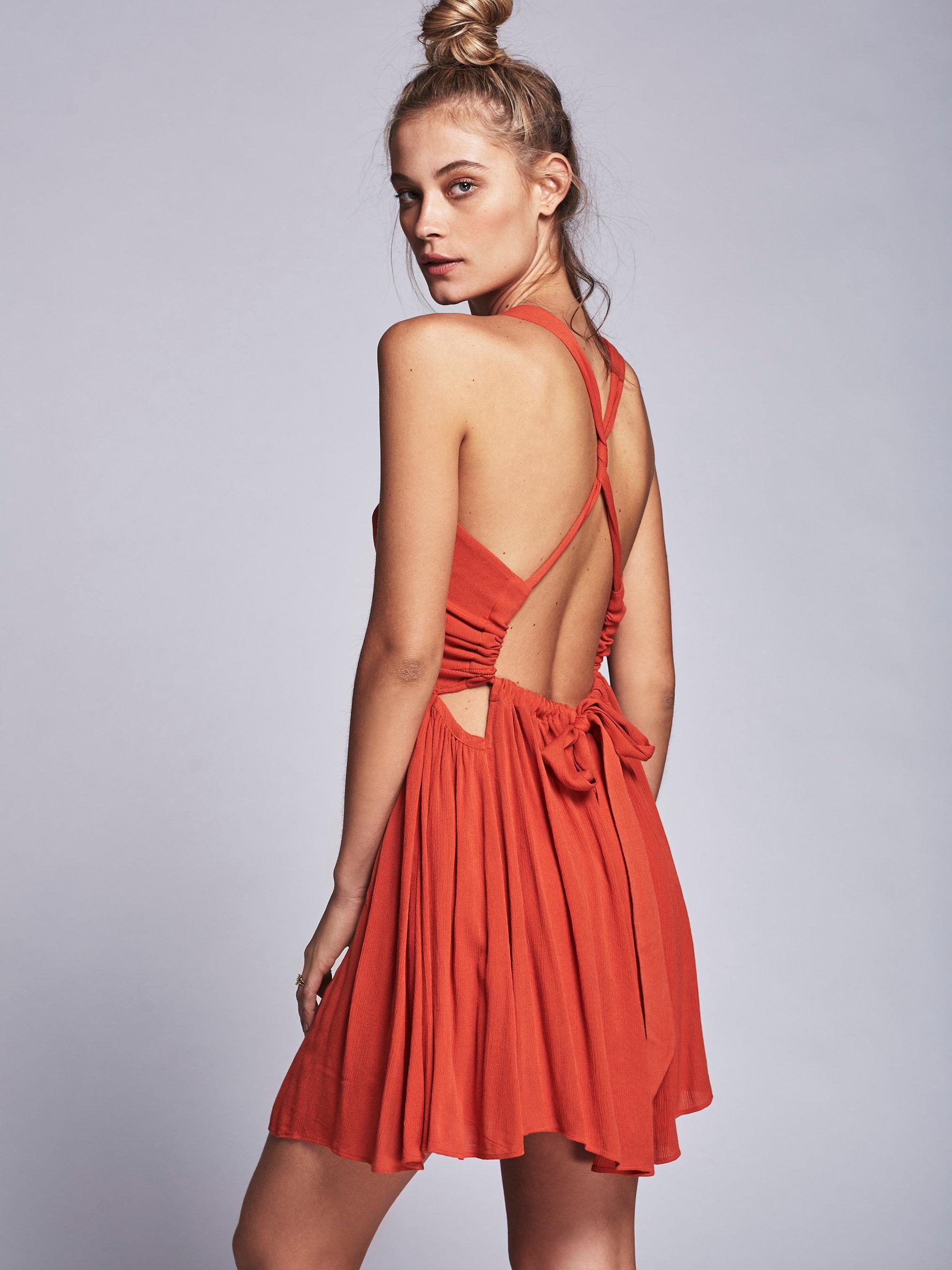a8e79e4b6f5 Lyst - Free People Rosetta Dress in Red