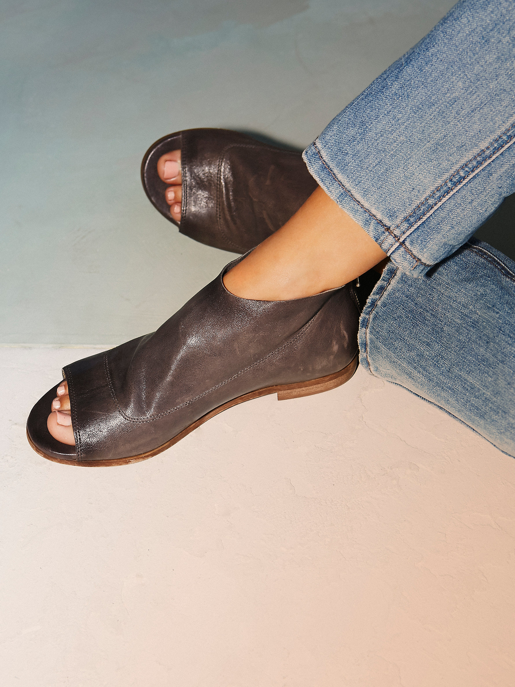 Free People Shoreline Boot Sandal In Gray Lyst