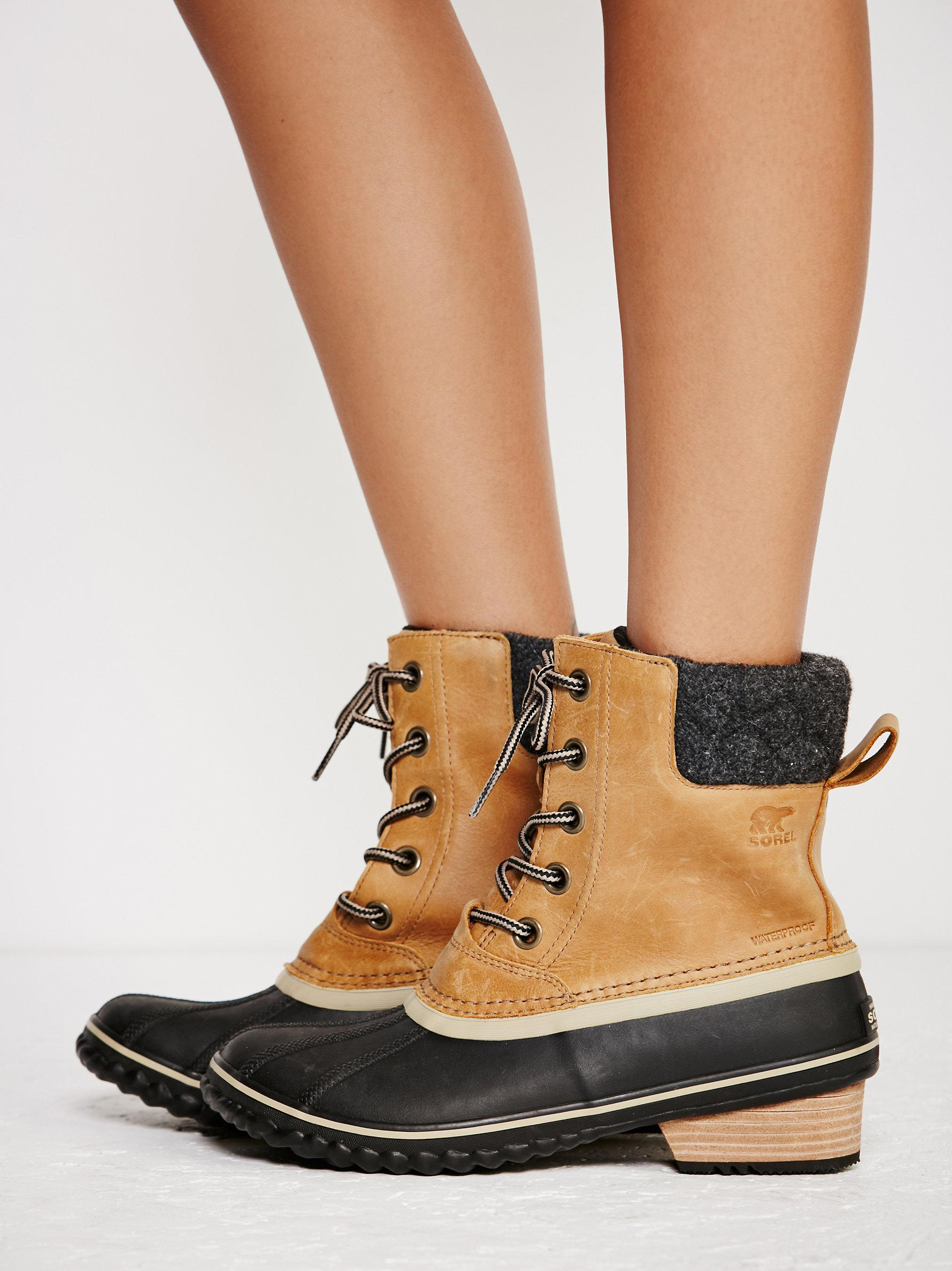 e0f963100524 Lyst - Free People Slimpack Ii Lace Up Weather Boot