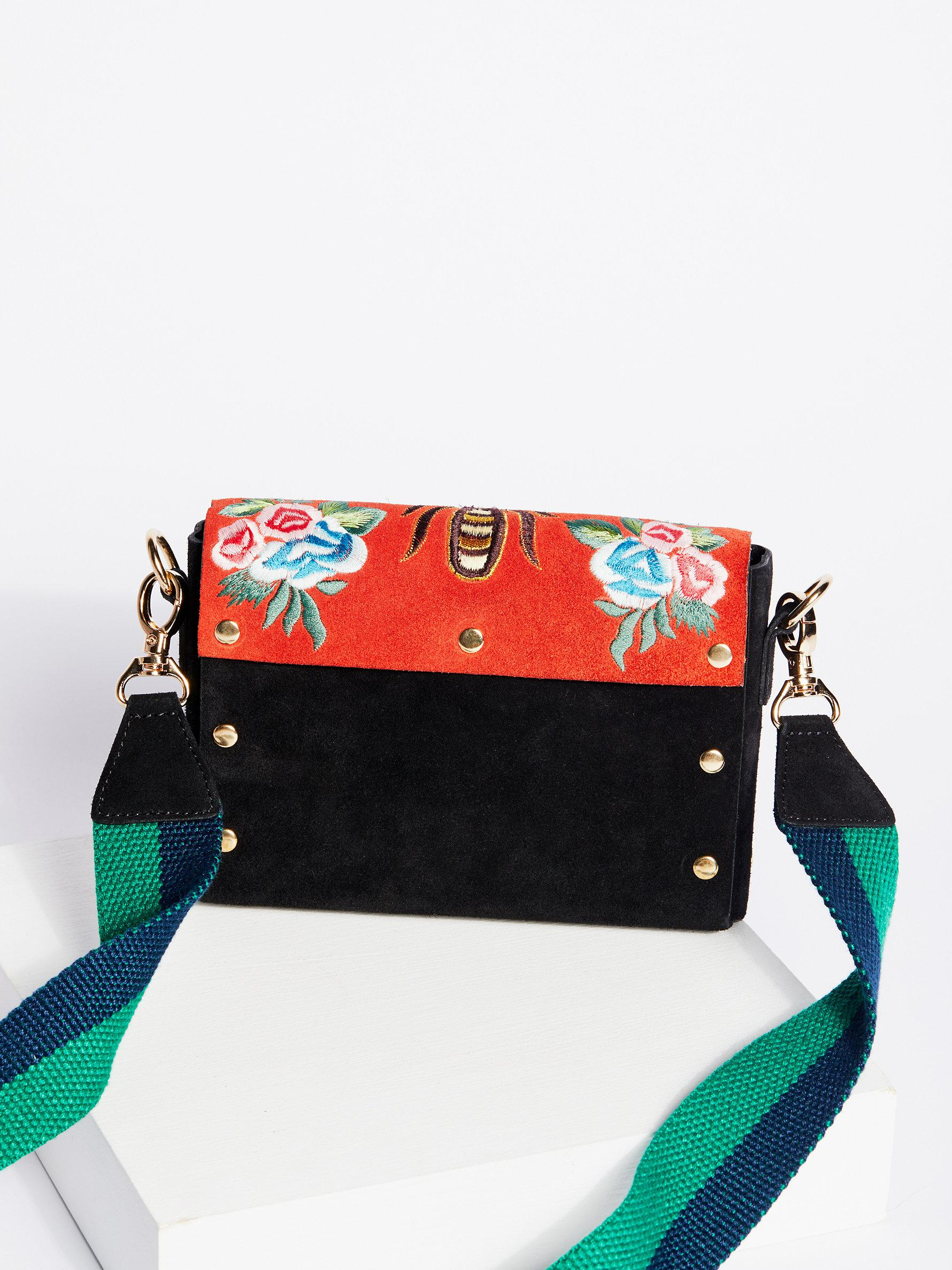 Free People Suede Stella Crossbody in Red
