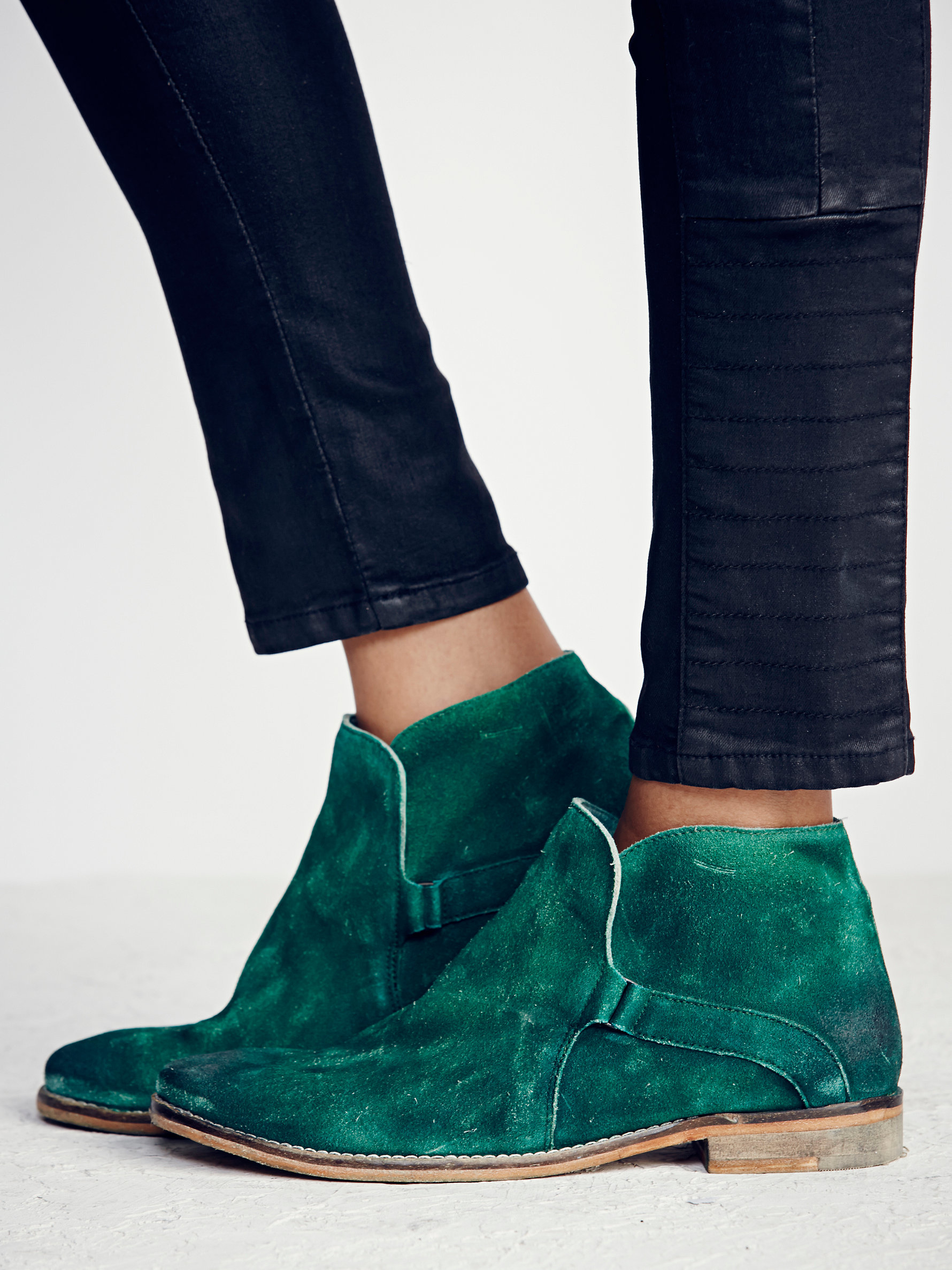 free people summit ankle boot in green lyst
