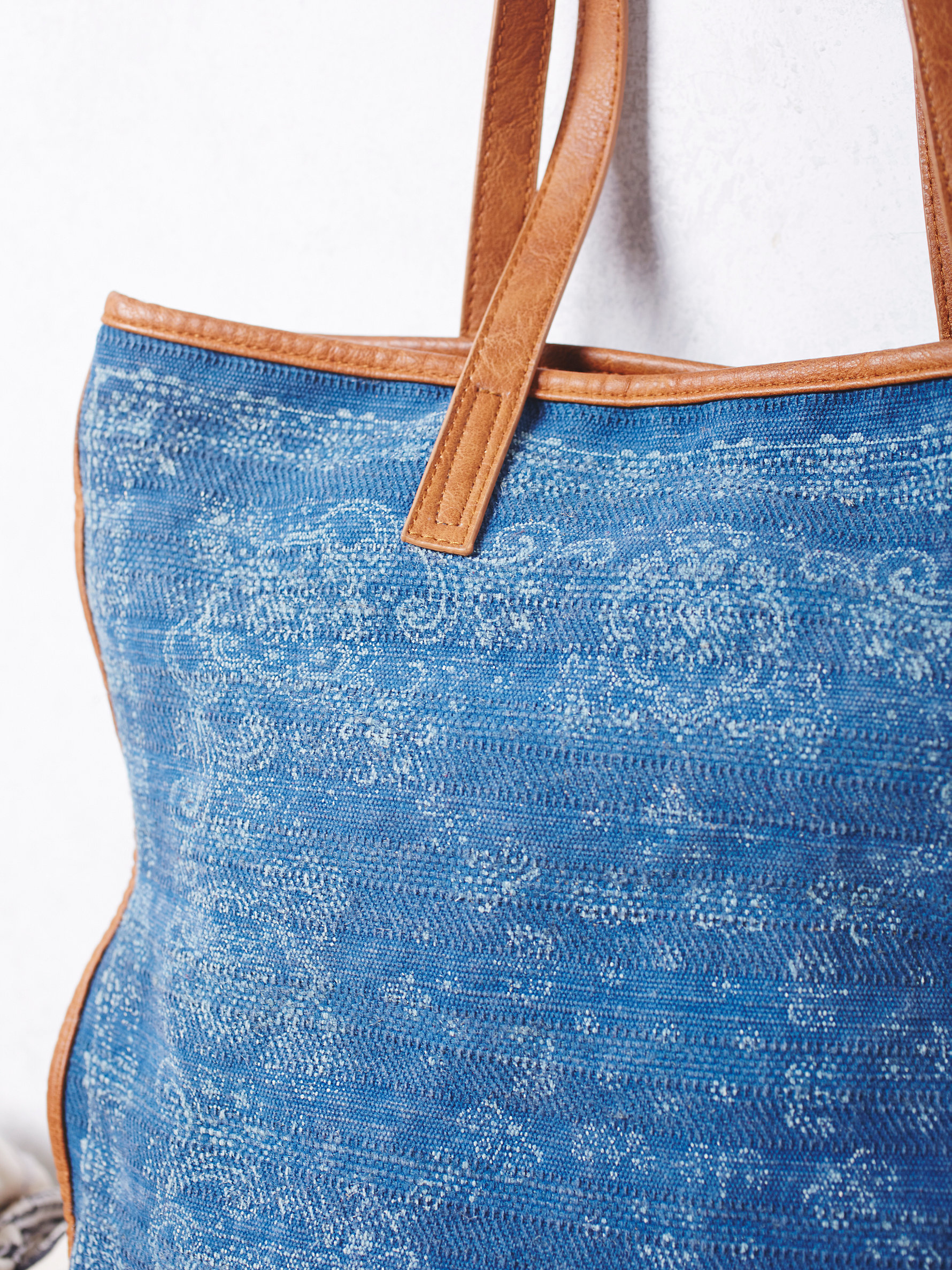 Free People Sun Valley Tote in Dusty Denim (Blue)