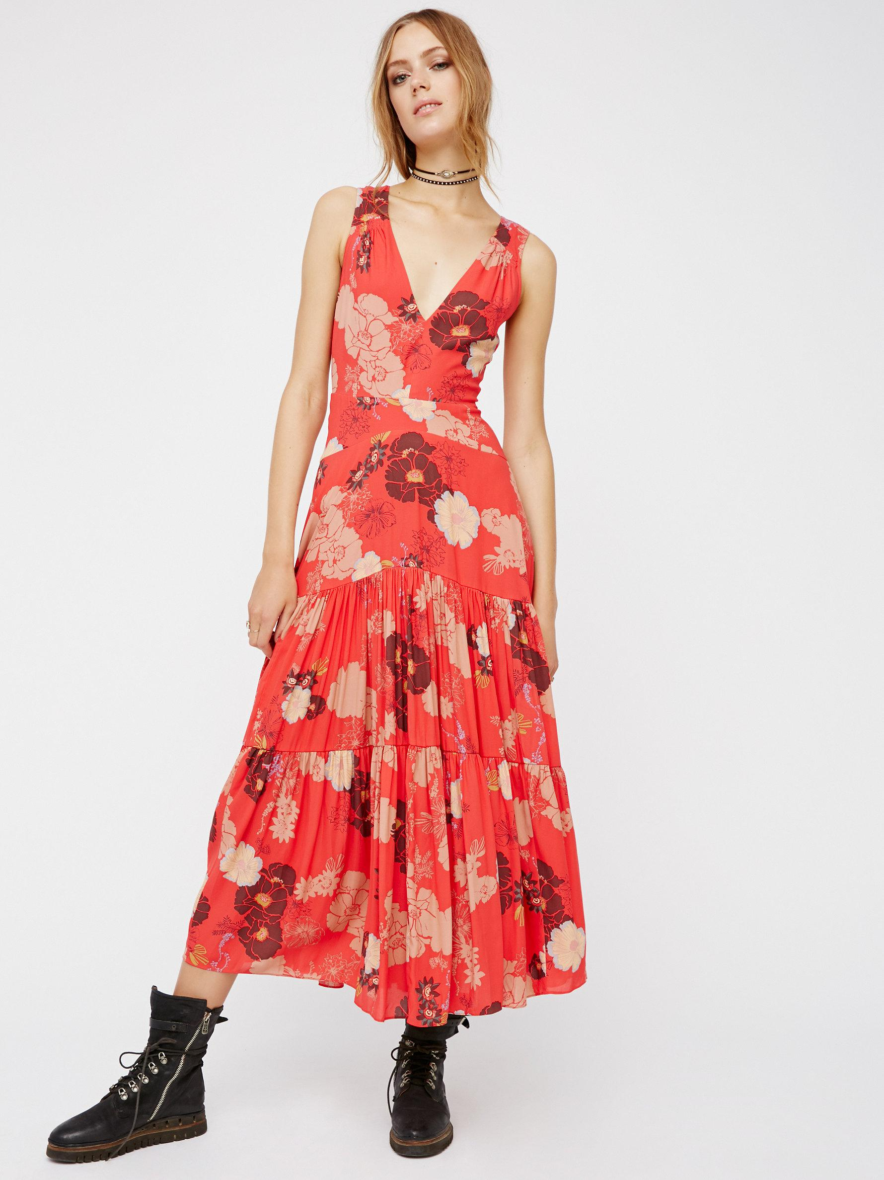 Cherry red maxi dress