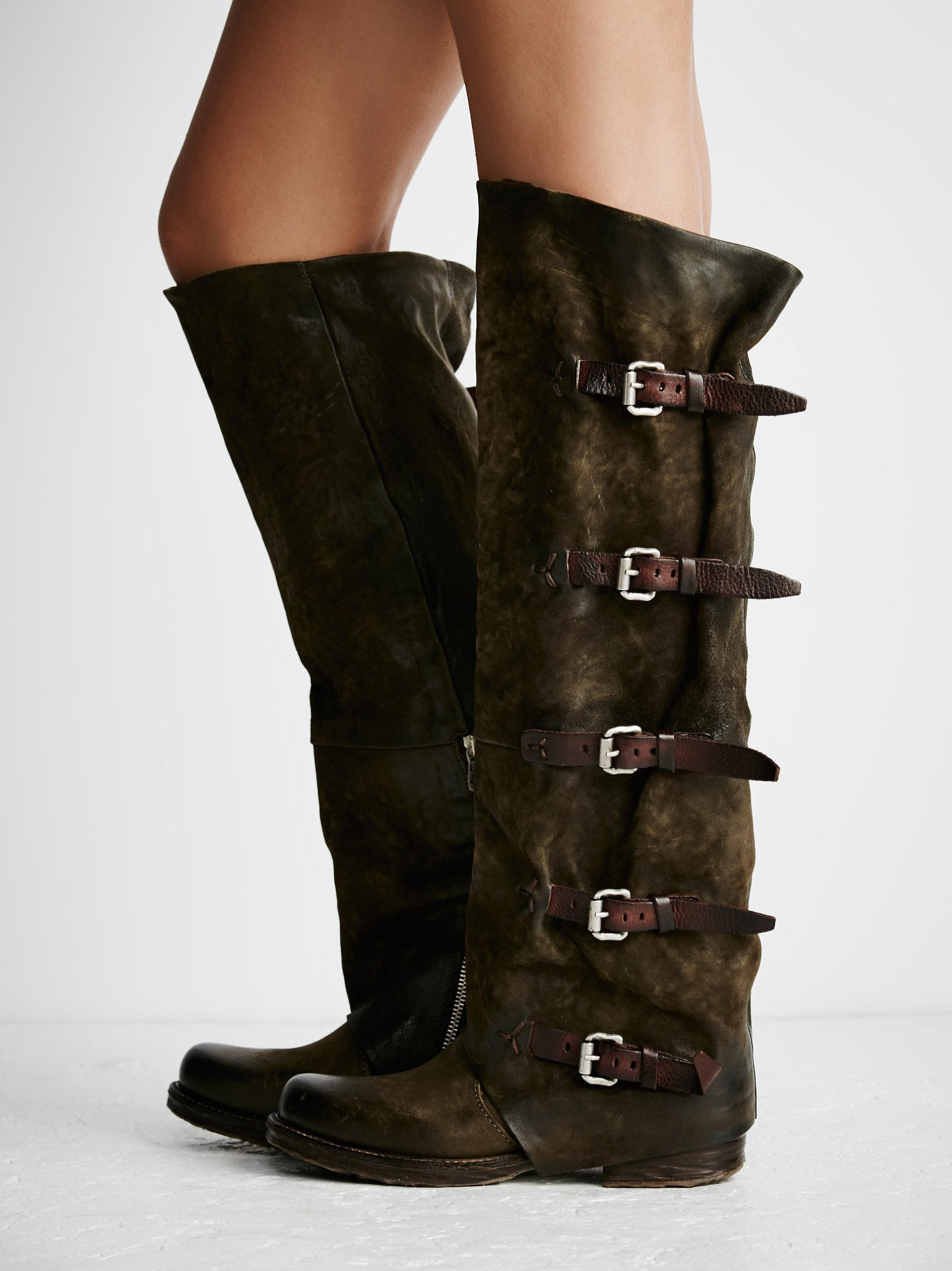 Free People Leather Tatum Over The Knee Boot