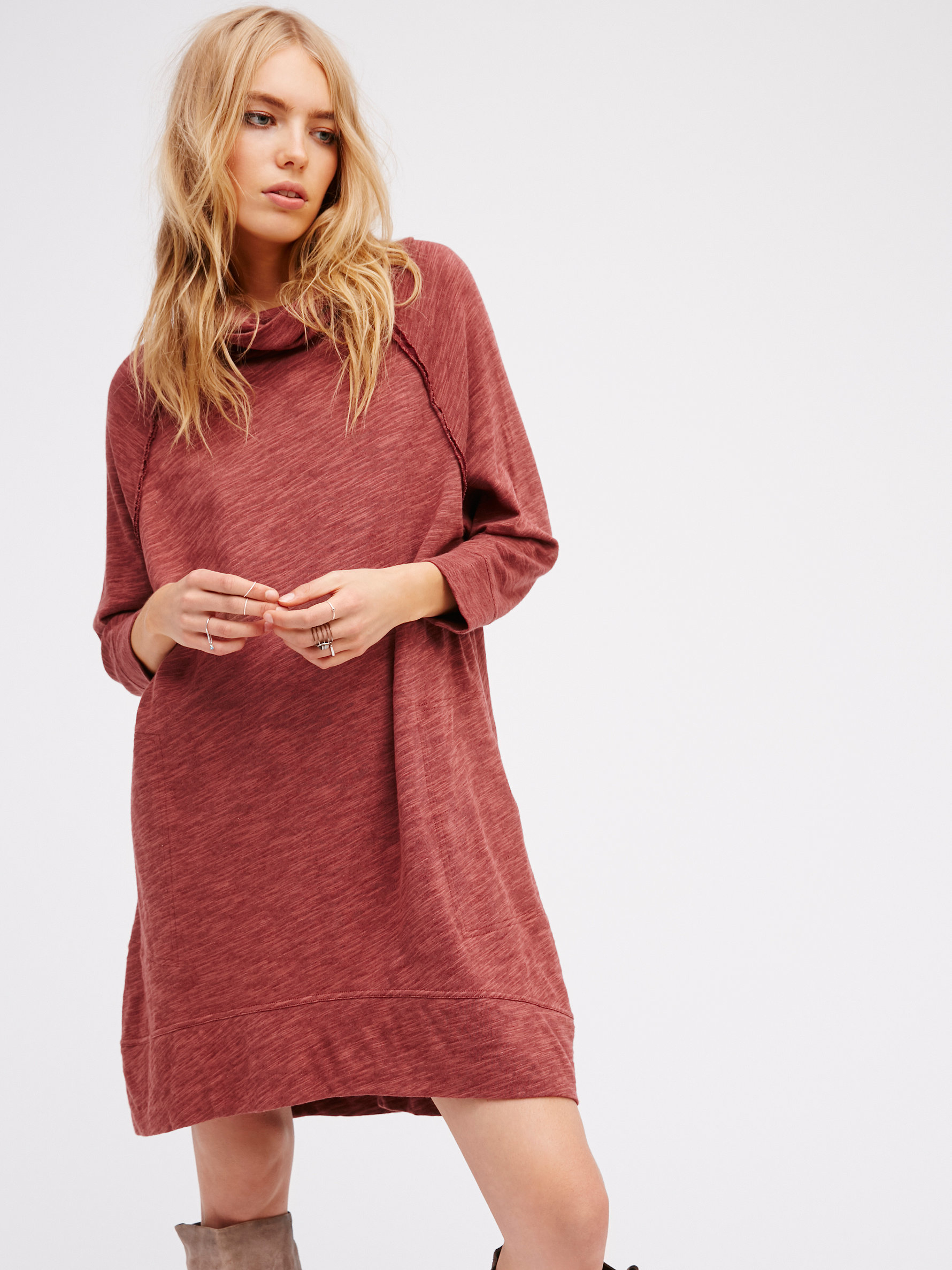 5526d5b051 Free People Terri Cocoon Pullover in Red - Lyst