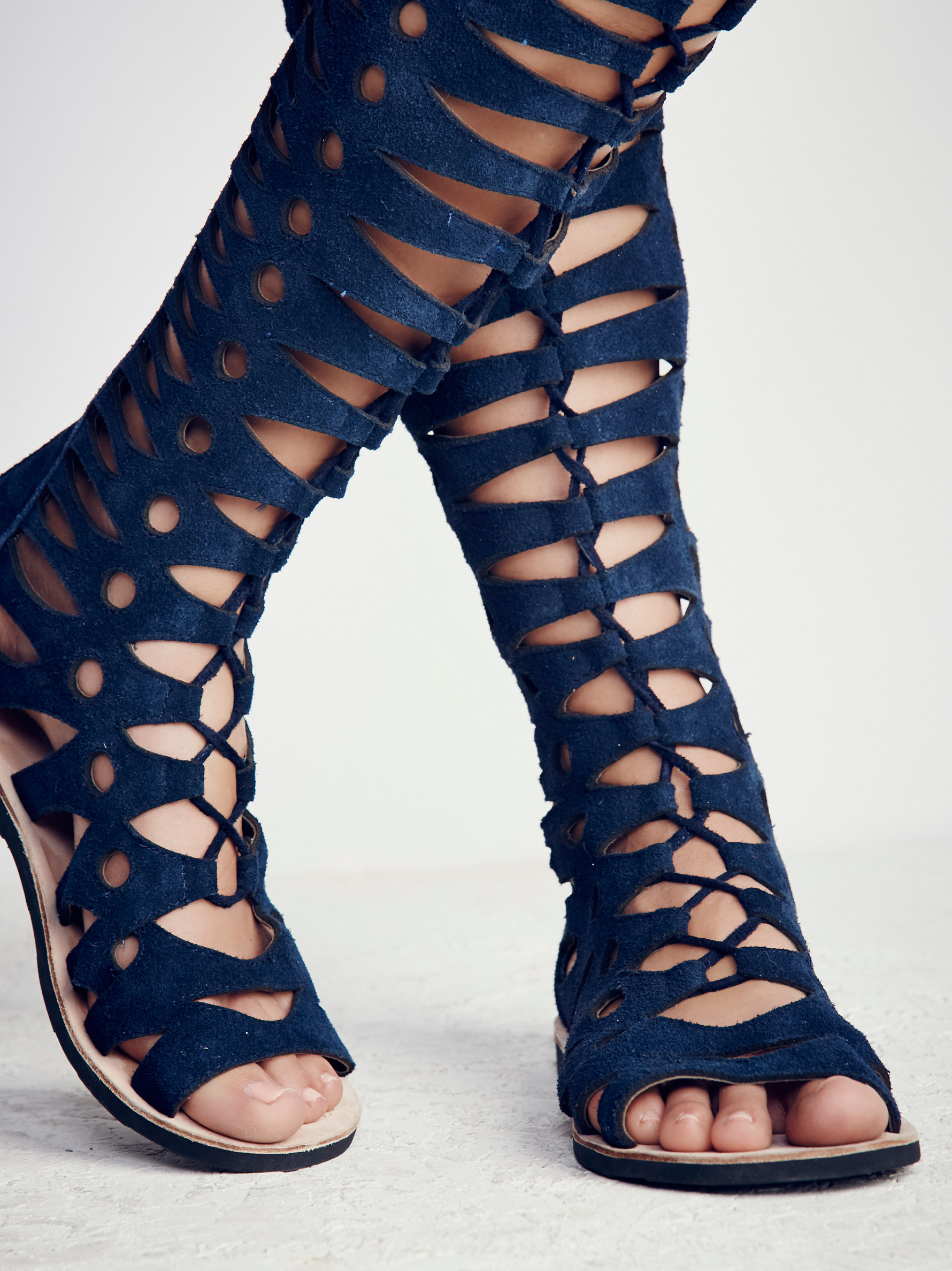 f390a04e2f9 Lyst - Free People Valencia Tall Gladiator in Blue