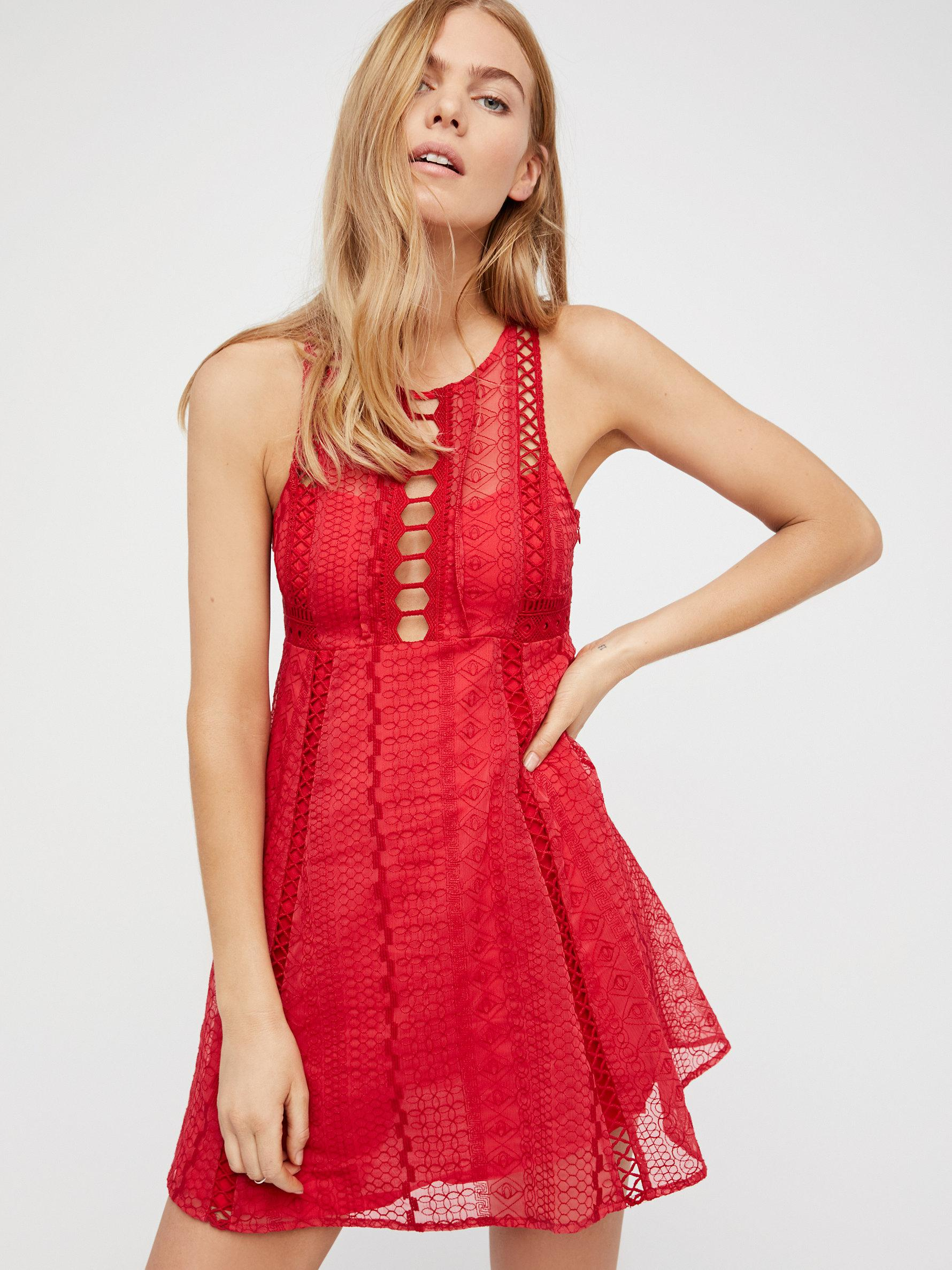 Lyst Free People Wherever You Go Mini Dress In Red