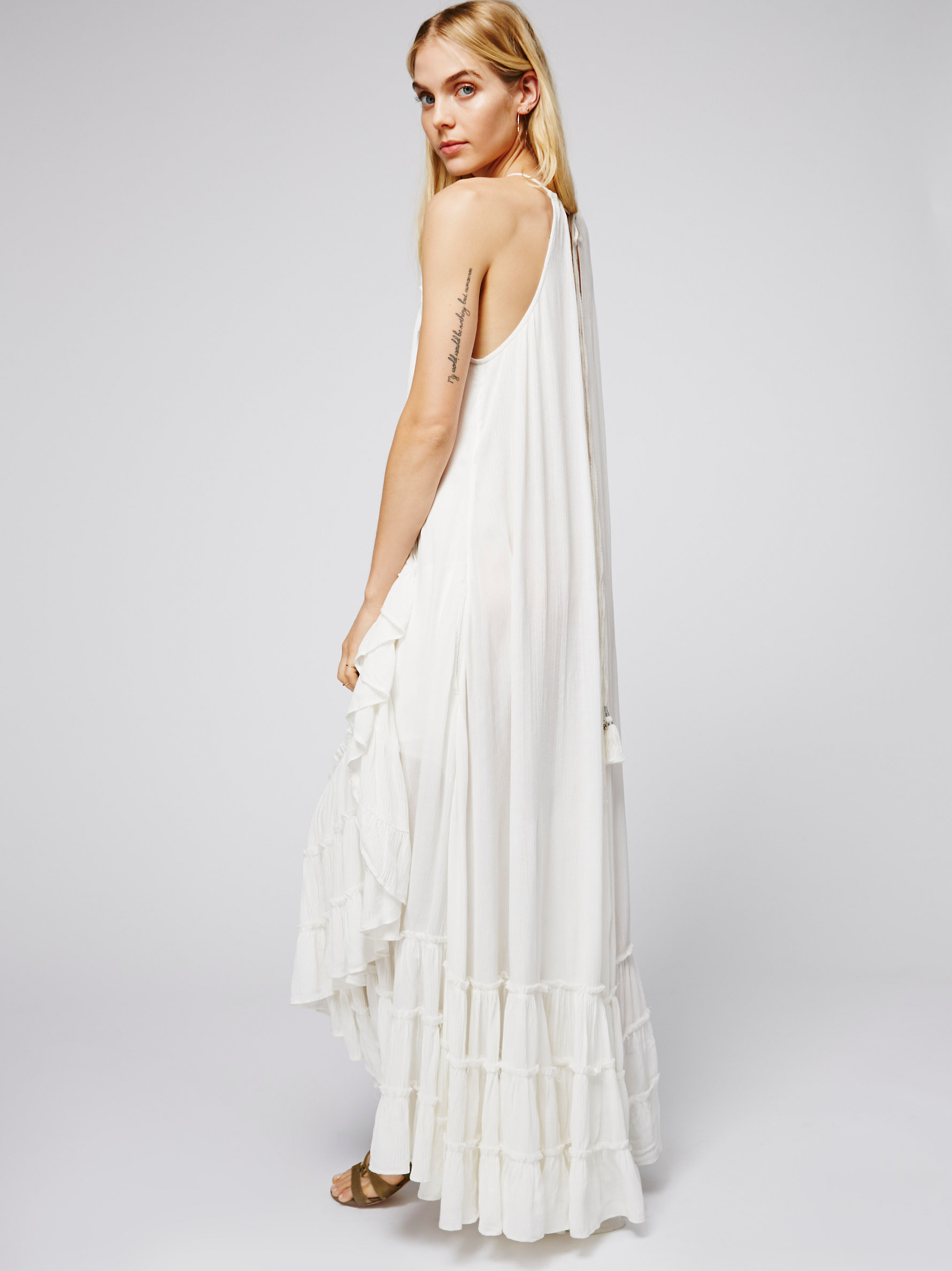 Free People Wrap Around Maxi Dress In Ivory White Lyst