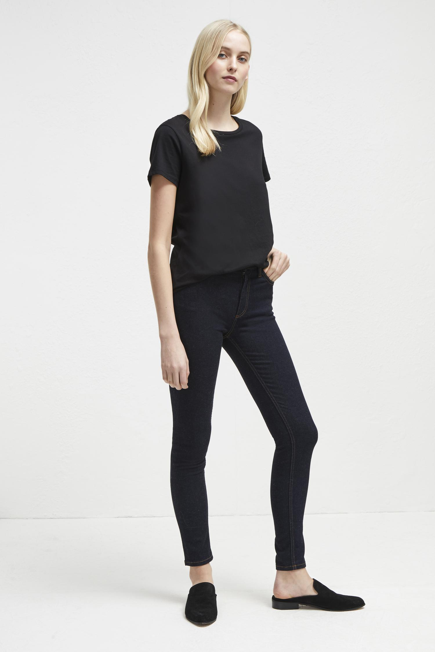 c10a8163ab3 Lyst - French Connection Thermal Denim High Rise Skinny Jeans in Blue